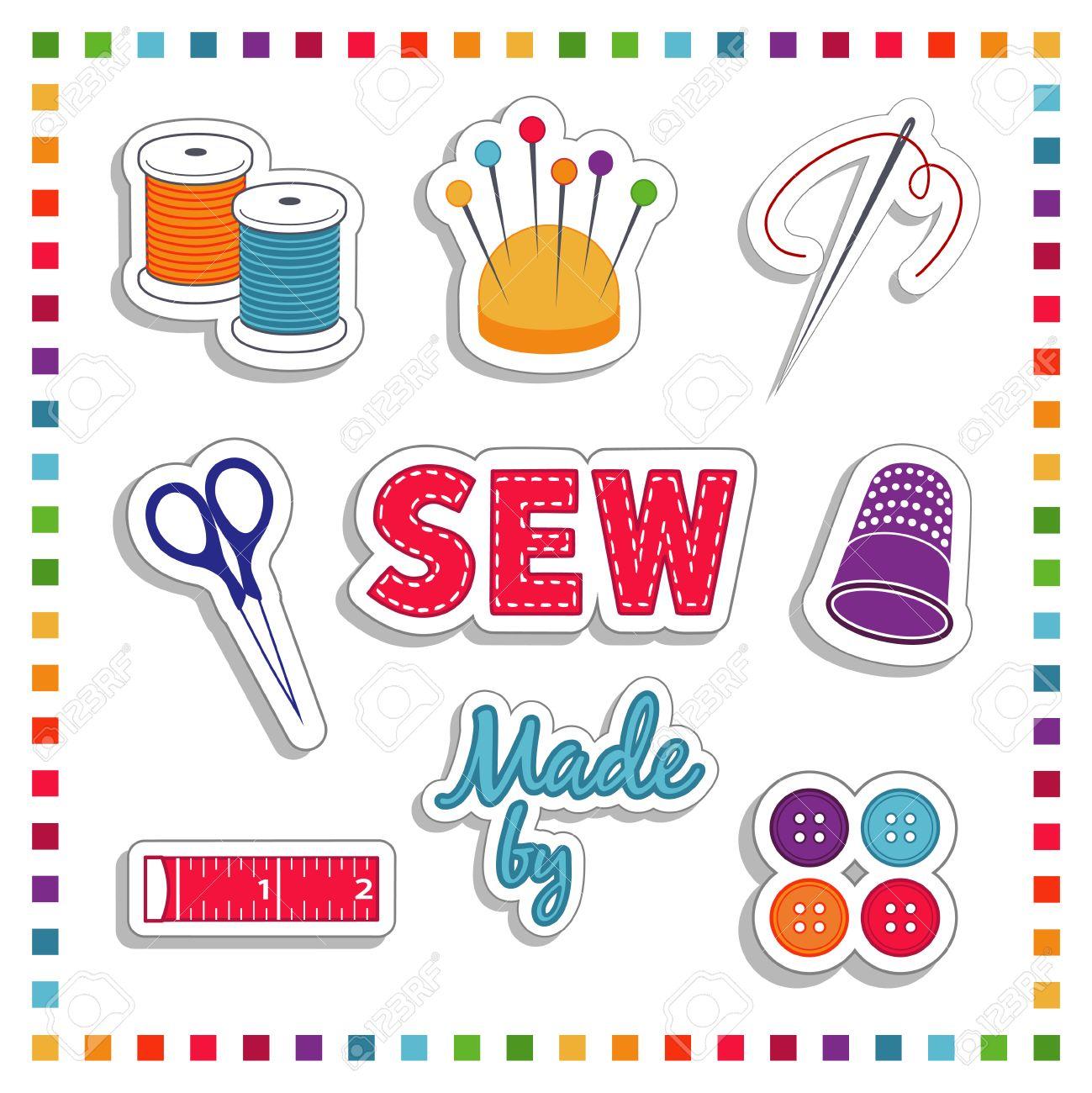 Sewing Aufkleber Für DIY Schneiderei, Handarbeiten Und Kunsthandwerk ...
