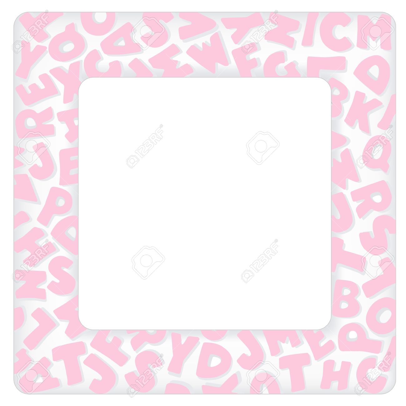 Alphabet frame square pastel pink letter border with copy space do it yourself crafts alphabet frame square pastel pink letter border with copy space for baby books albums solutioingenieria Image collections