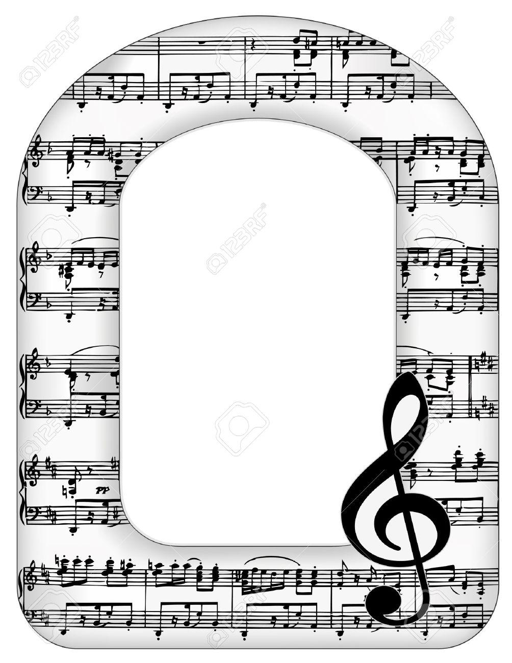 Notas De La Música Marco Arco Imagen, Clave De Sol Con Copia Espacio ...