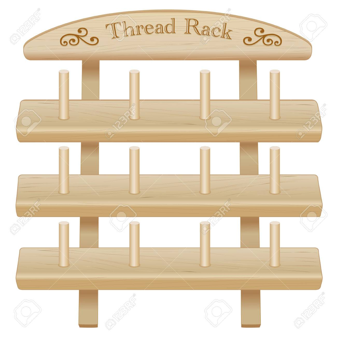 Wood Thread Spool Storage Rack engraved text and scrolls three pine shelves with pegs  sc 1 st  123RF.com & Wood Thread Spool Storage Rack Engraved Text And Scrolls Three ...