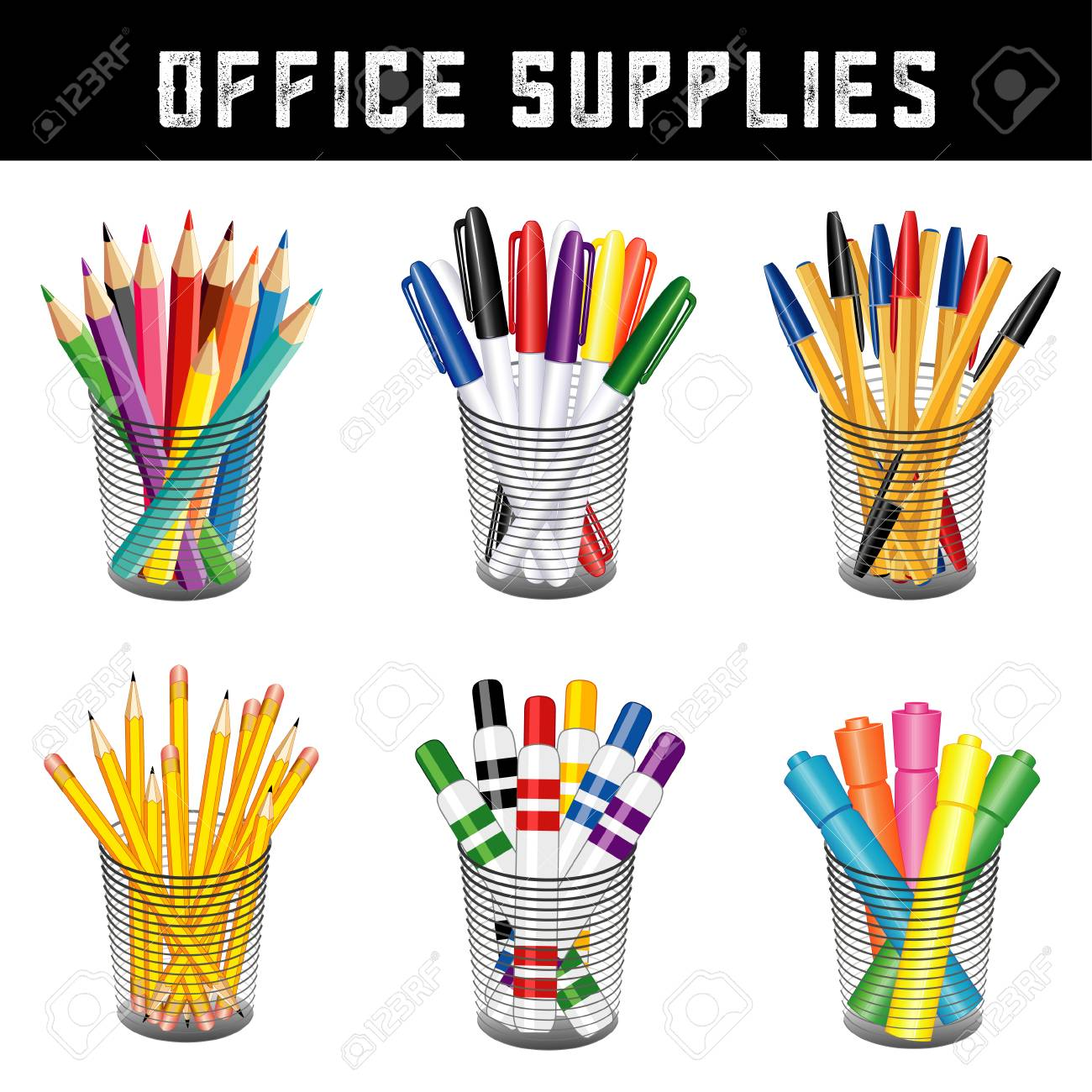 Office Supplies, Writing And Drawing Tools In Desk Organizers For Office,  Home And Back
