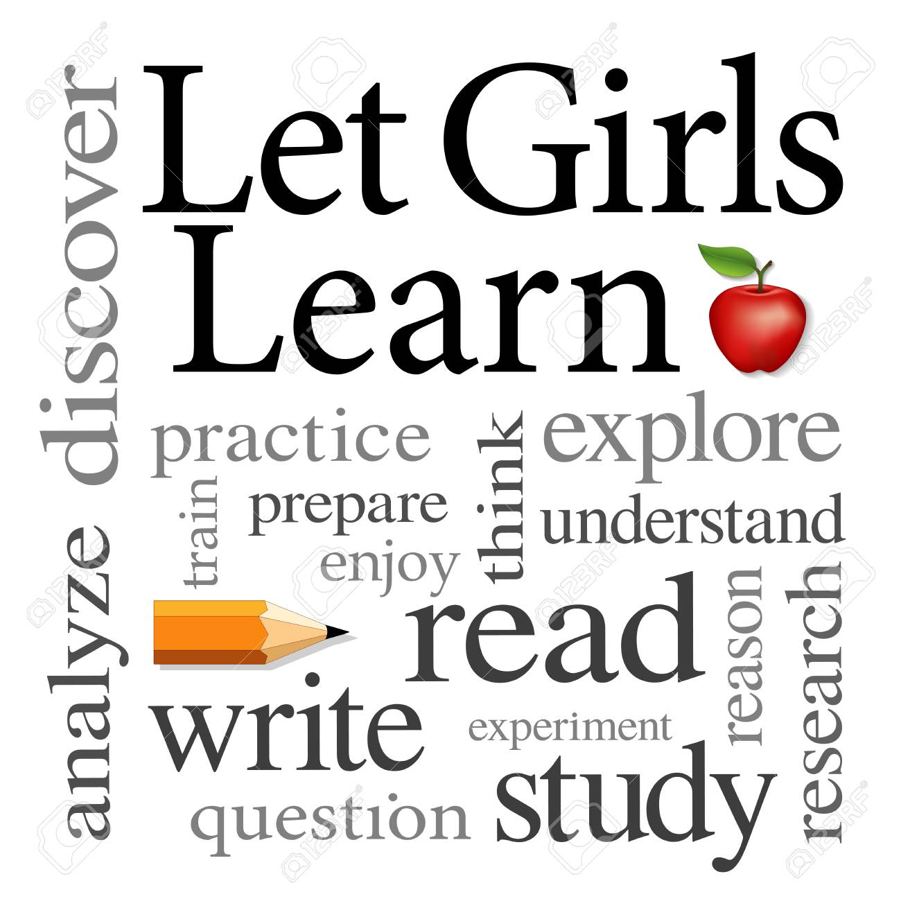 Let Girls Learn Word cloud - 113931835