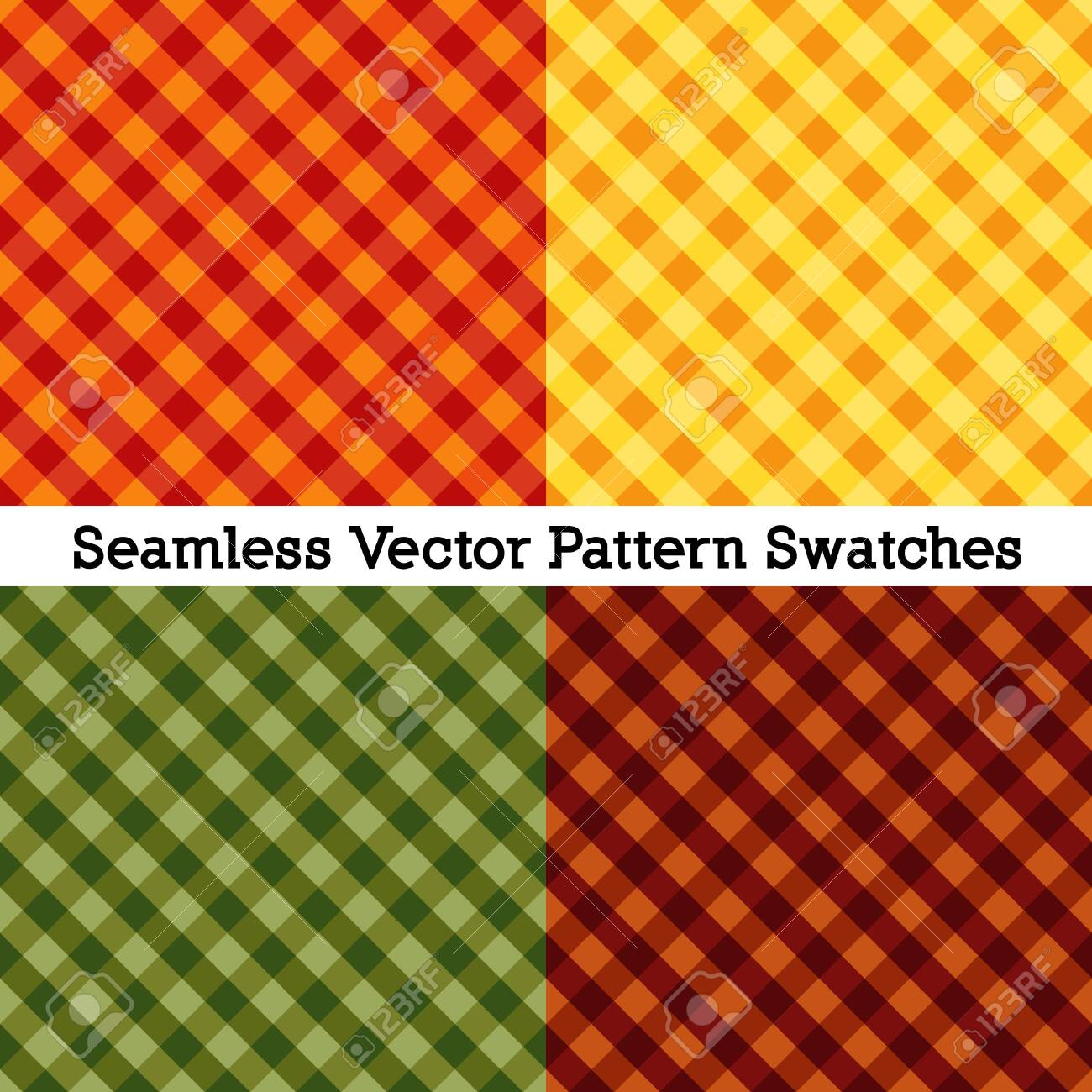 Gingham seamless cross weave - 128816405