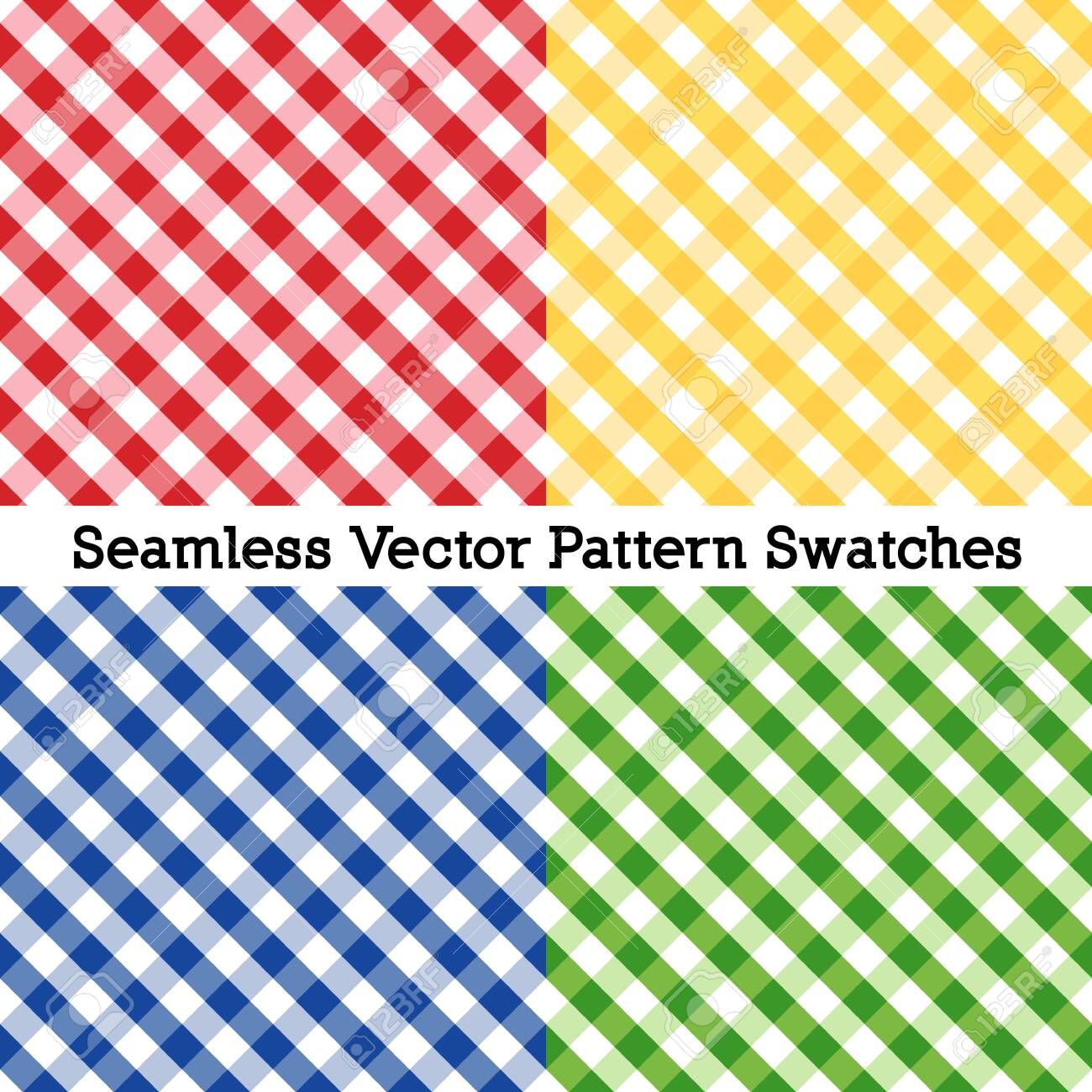 Gingham Cross Weave Seamless Check Patterns - 136310490