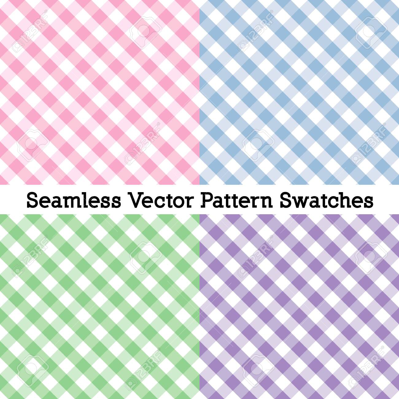 Gingham Cross Weave Seamless Check Patterns - 136310489