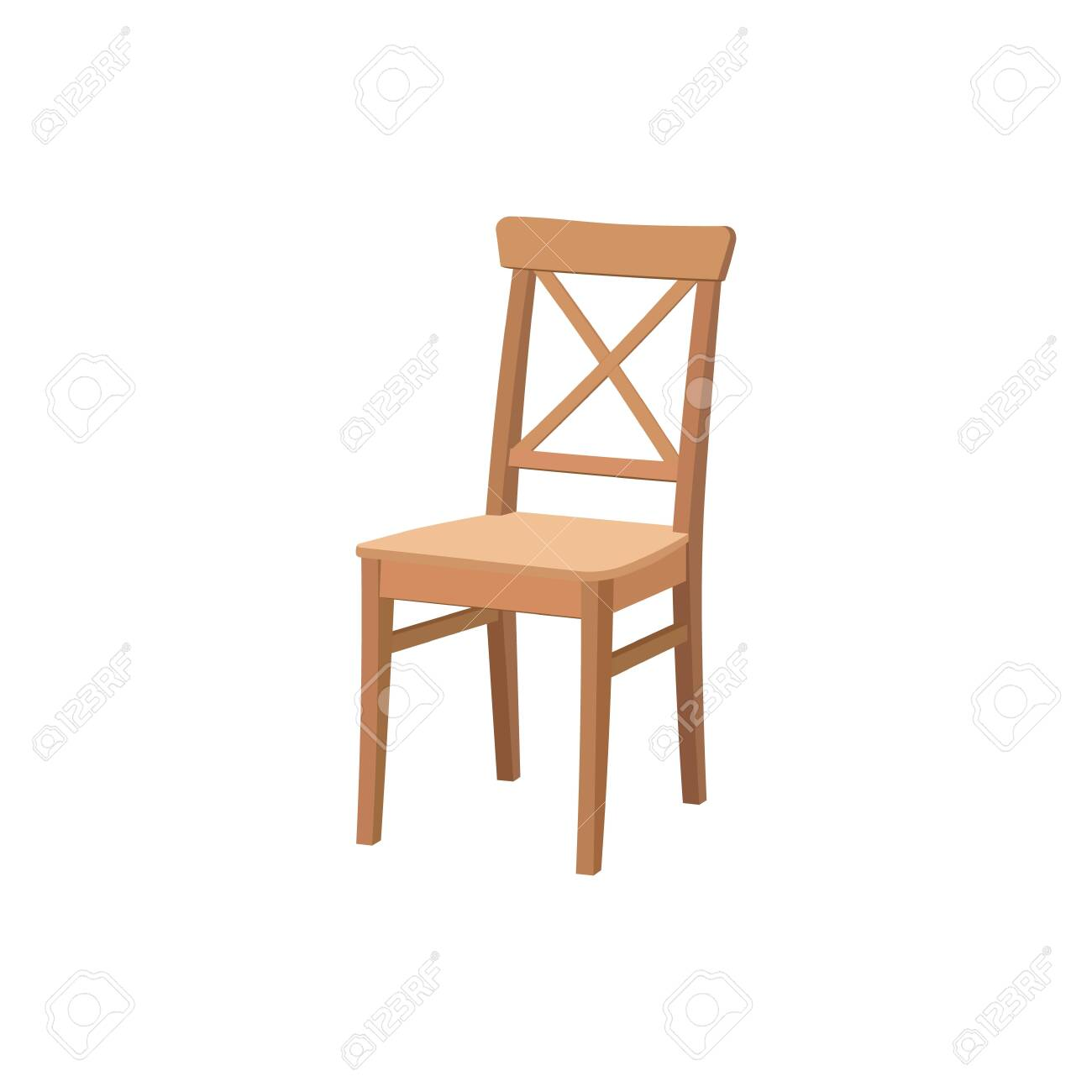 Old wooden chair.Furniture for dining room.