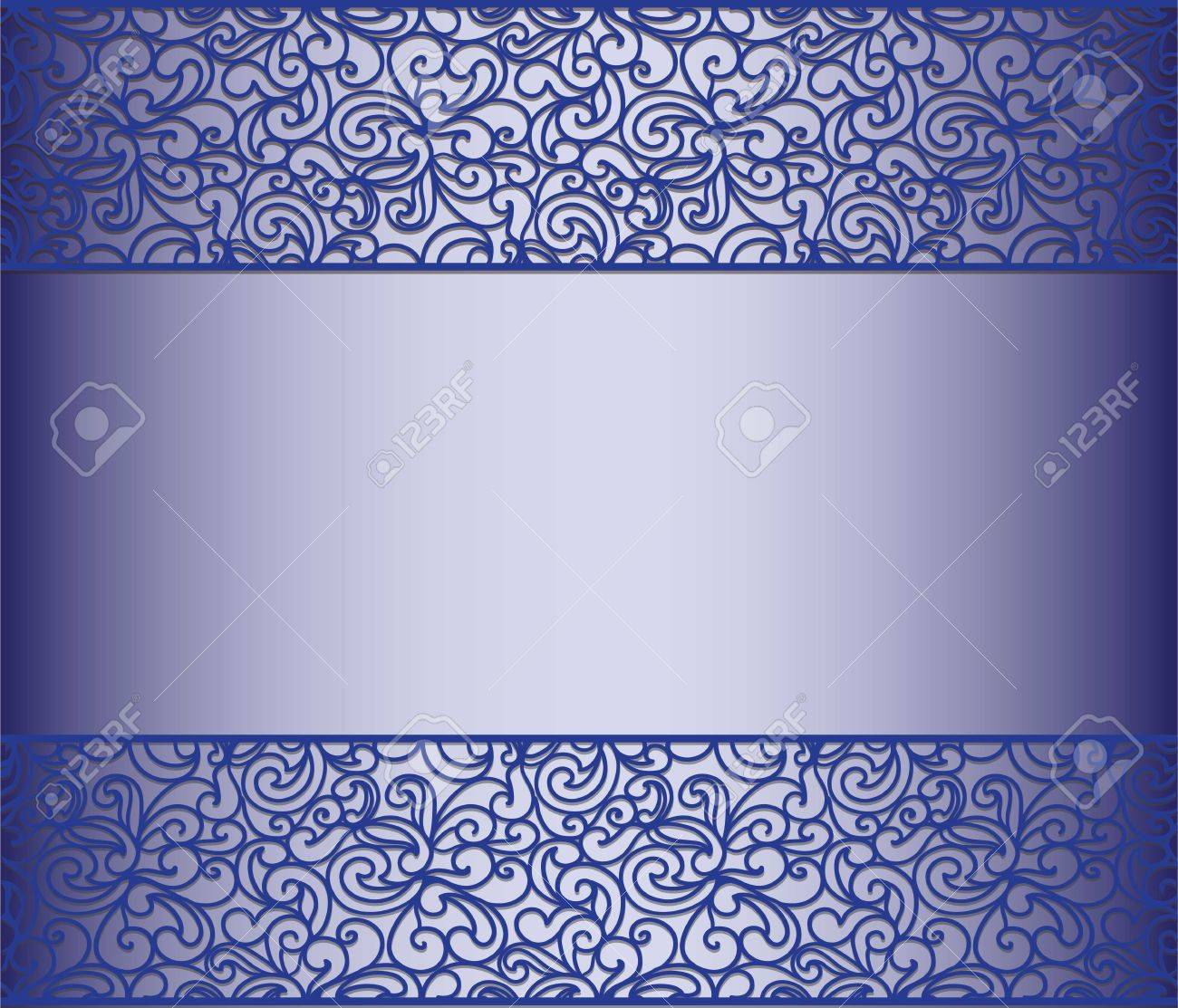 Vintage lace background for envelope card or invitation in royal vintage lace background for envelope card or invitation in royal blue color vector stock stopboris Image collections