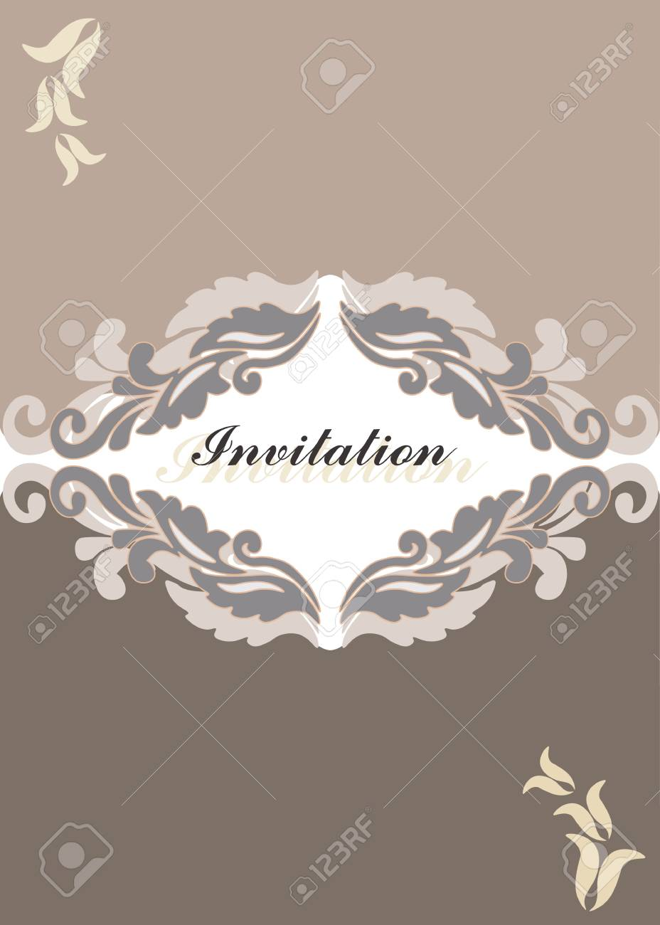 floral ornament invitation card royalty free cliparts vectors and