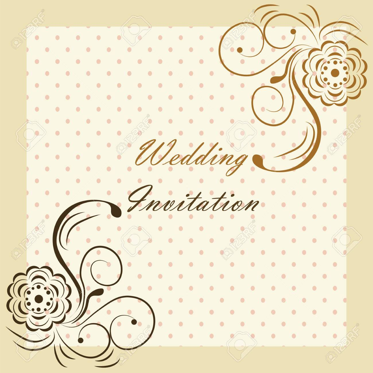 Wedding invitation with rose ornaments vector royalty free cliparts vector wedding invitation with rose ornaments vector stopboris Image collections
