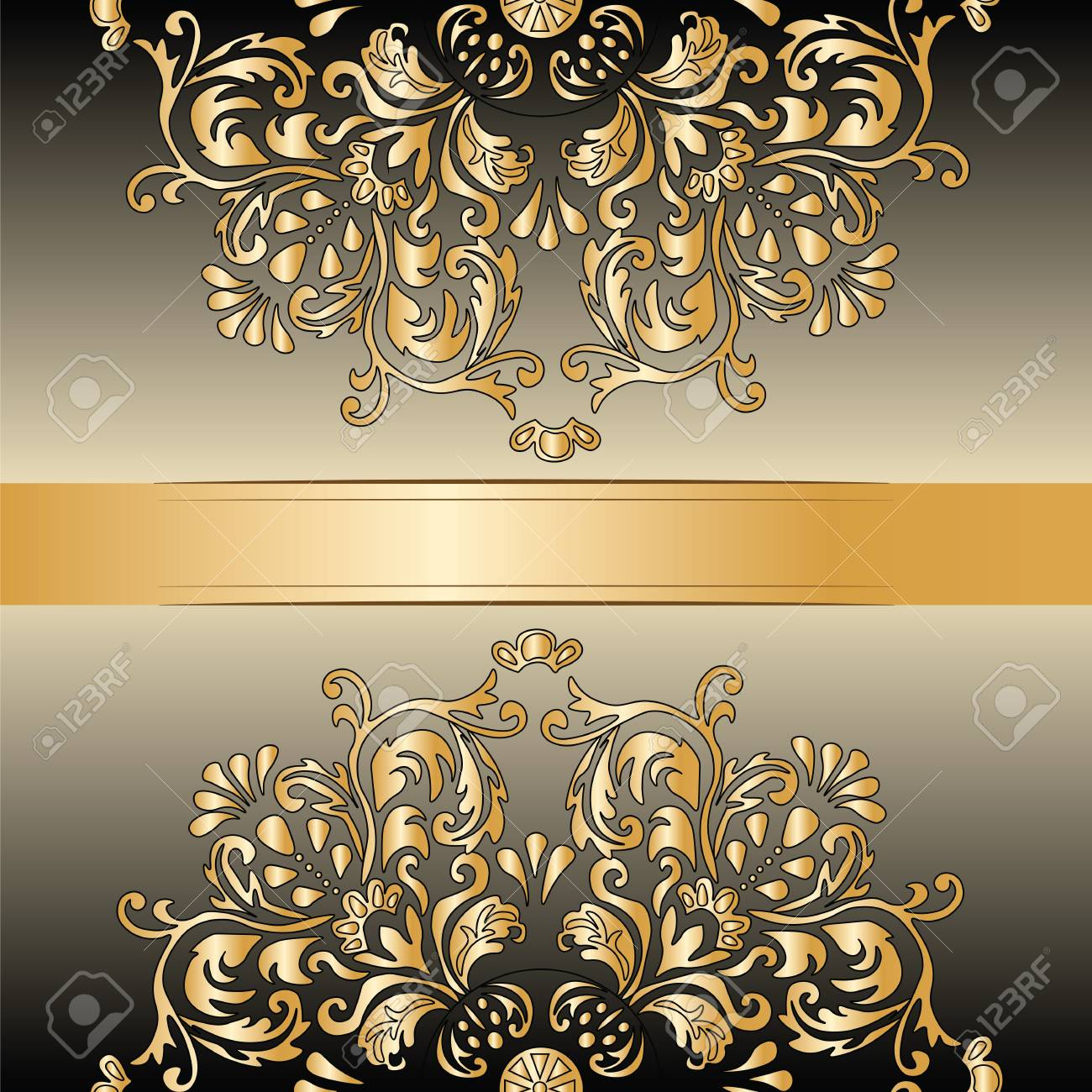 Golden royal classic ornament damask invitation vector royalty free golden royal classic ornament damask invitation vector stock vector 50048291 stopboris Image collections