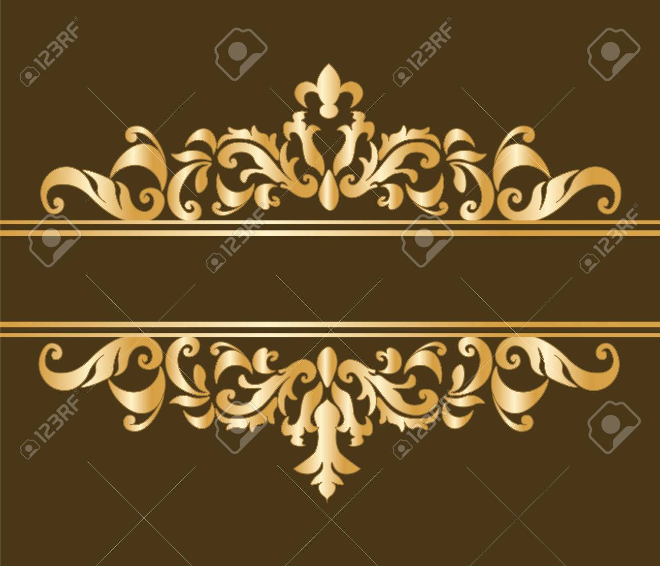 Royal classic ornament damask invitation in chocolate vector royal classic ornament damask invitation in chocolate vector stock vector 50048382 stopboris Gallery