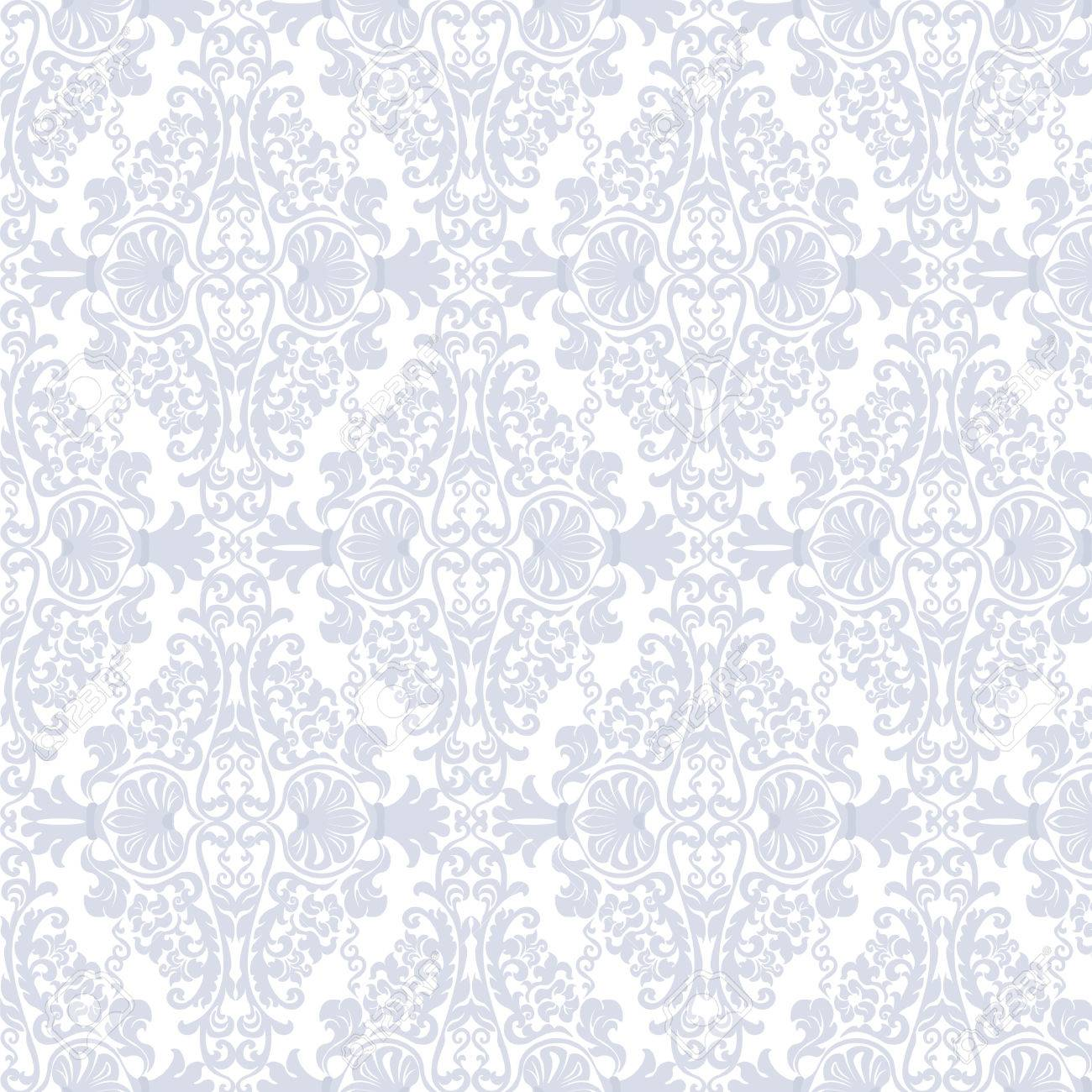 Floral Ornament Damask Pattern Elegant Luxury Texture For