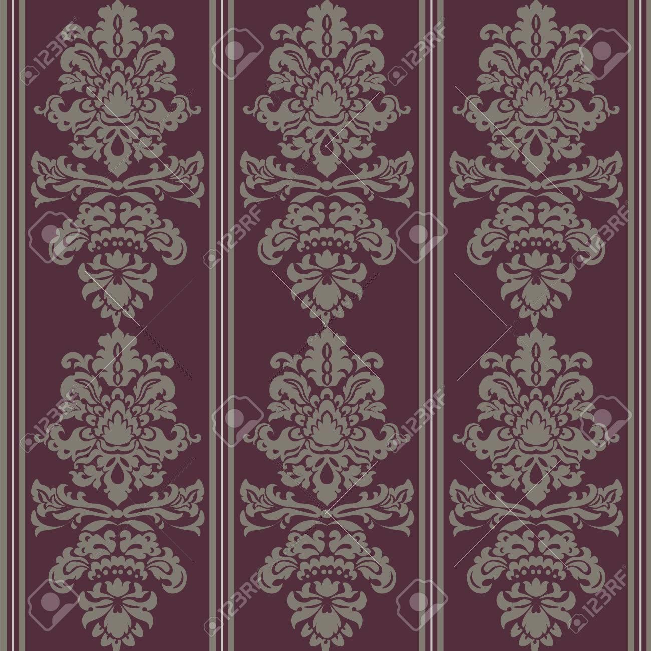 Ornement De Motif Baroque Element Floral Vintage De Damasse De