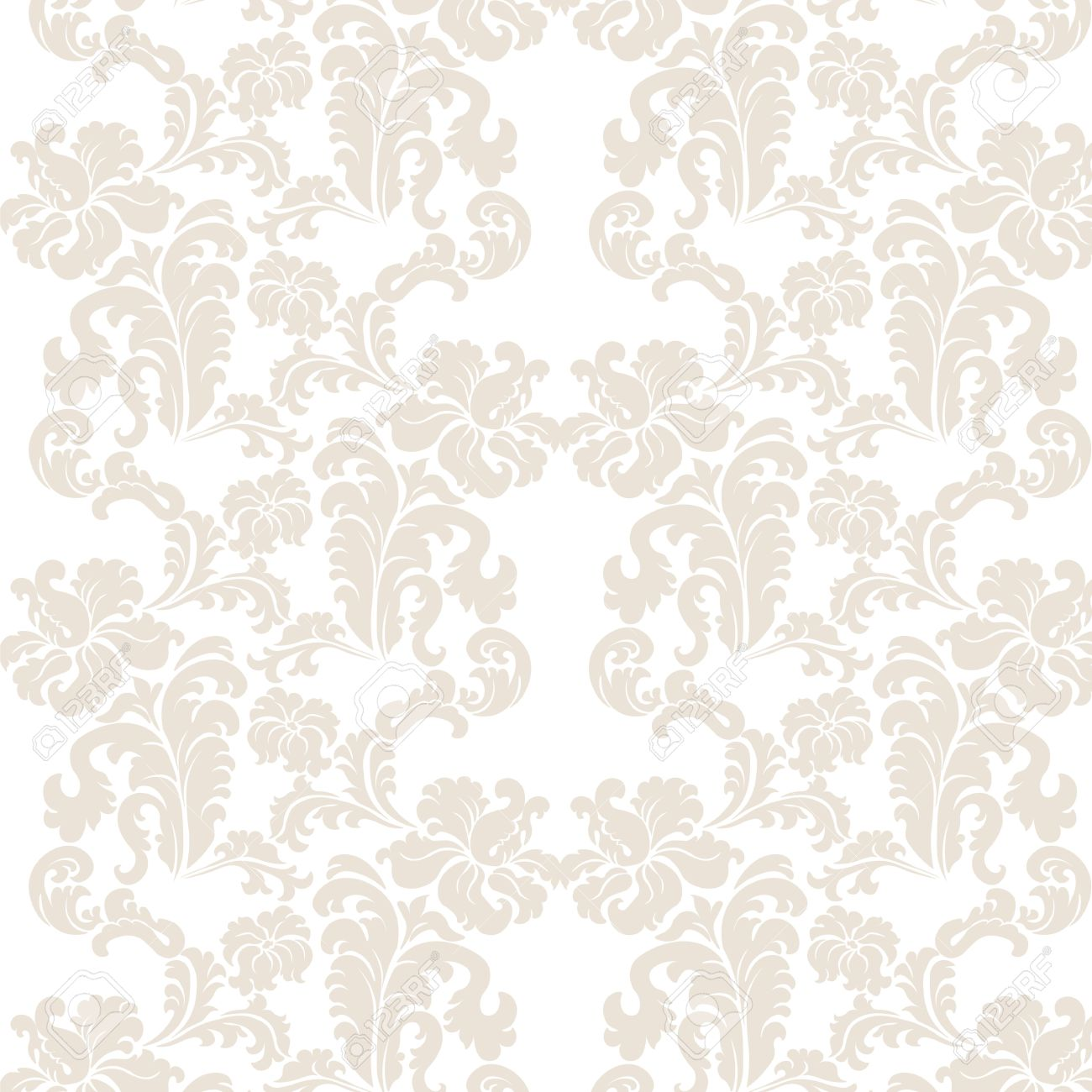 Vintage elegant lily flower ornament pattern luxury texture vector vintage elegant lily flower ornament pattern luxury texture for wallpapers backgrounds and invitation cards white and beige colors vector stopboris Image collections