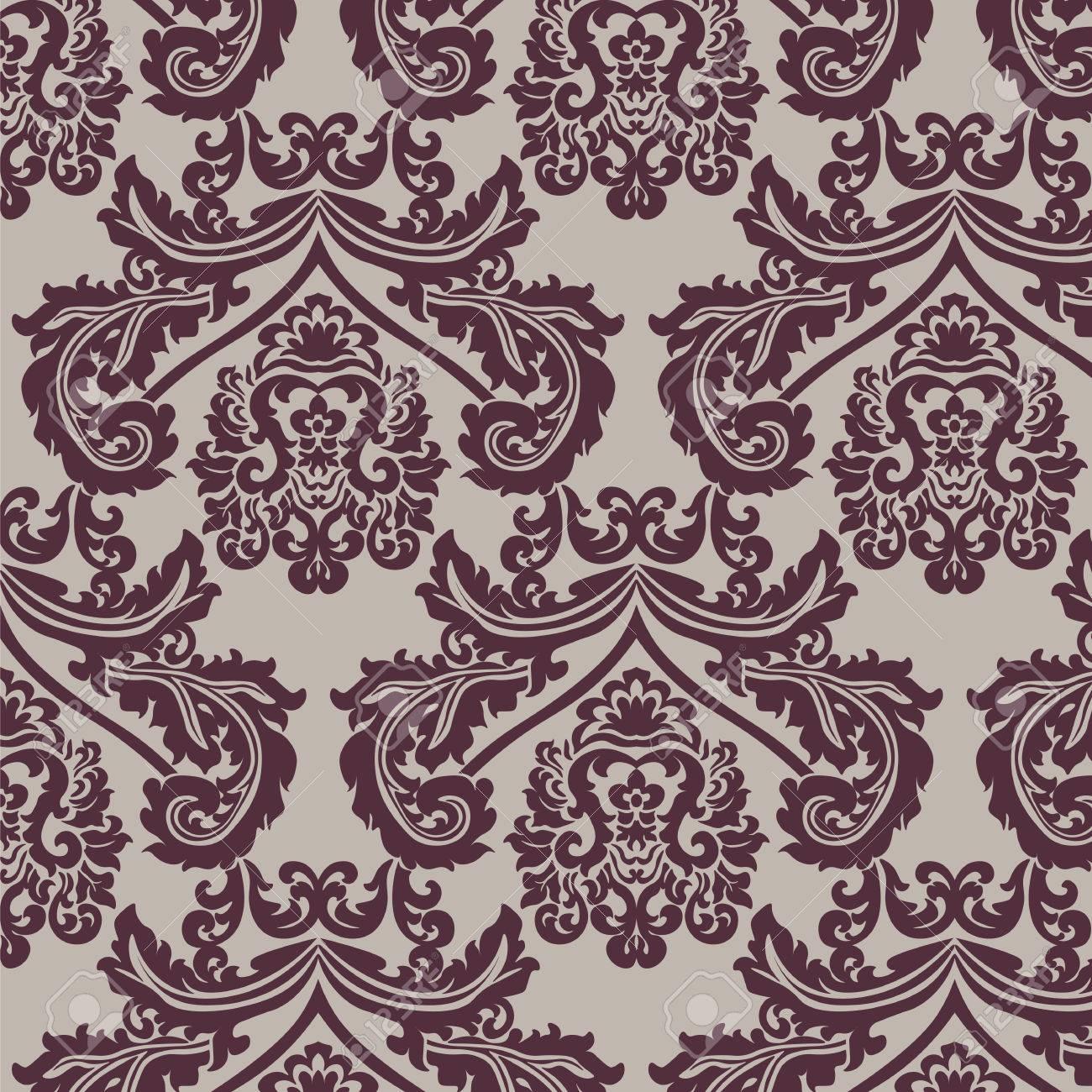 standard bild vintage damast ornament muster eleganter luxus textur fr tapeten hintergrnde und einladungskarten rot und beige farben vektor - Tapete Rot Muster