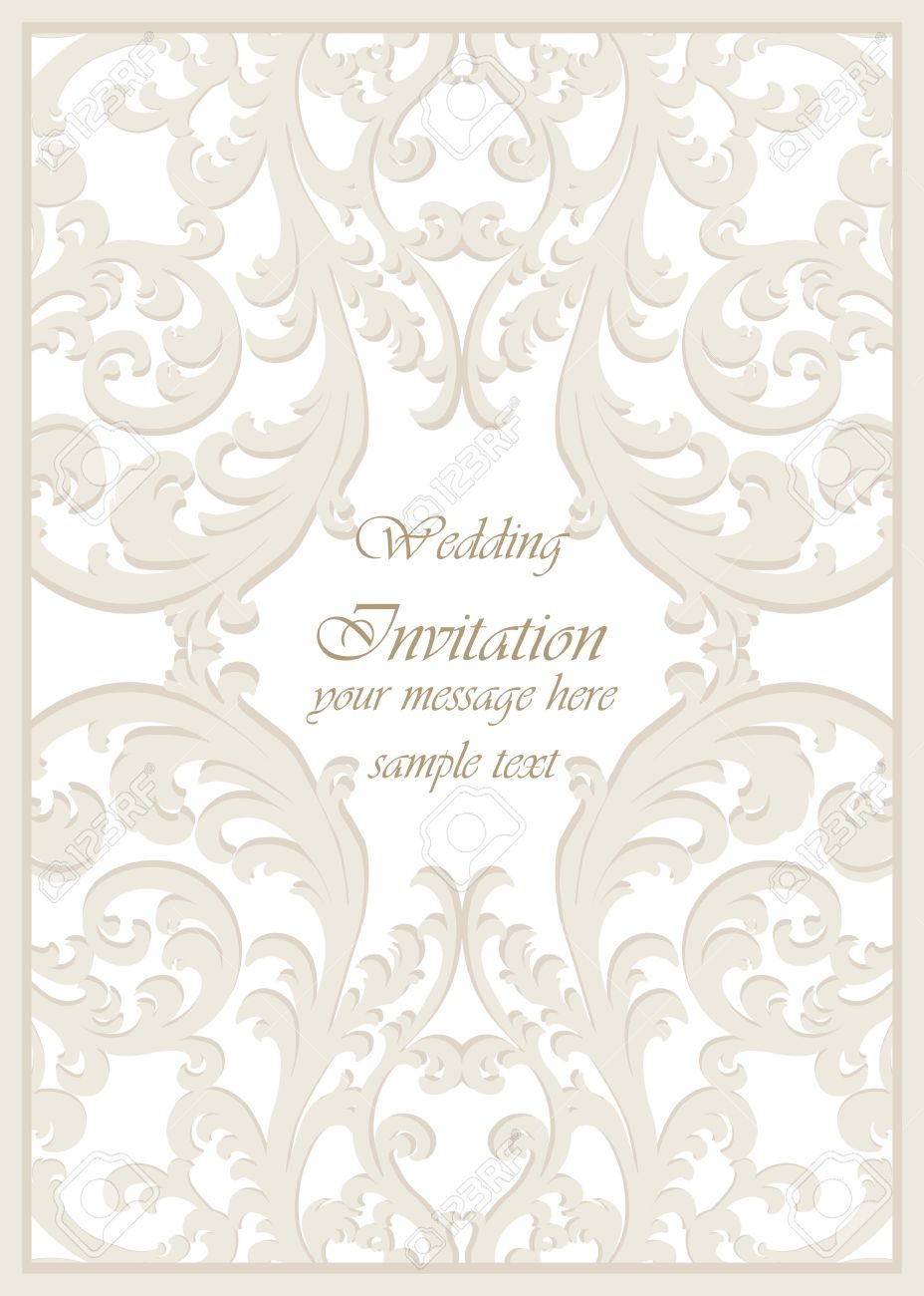 58637141 Vector Vintage Classic Wedding Invitation card Imperial style Floral ornament background for design Stock Vector vector vintage classic wedding invitation card imperial style,Wallpaper For Wedding Invitation