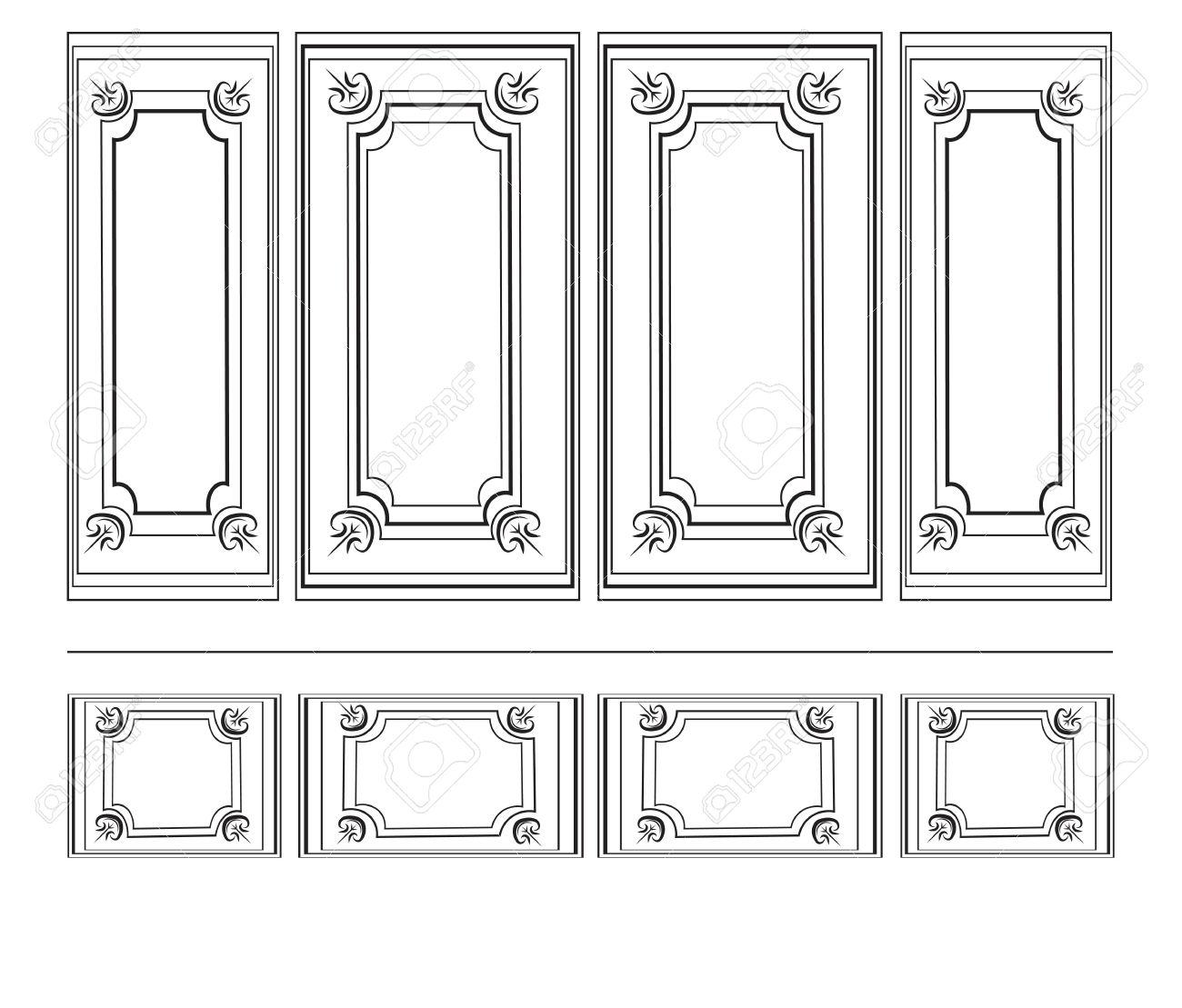 Dekorative Verzierte Rahmen Für Wände Oder Hintergründe. Inter ...