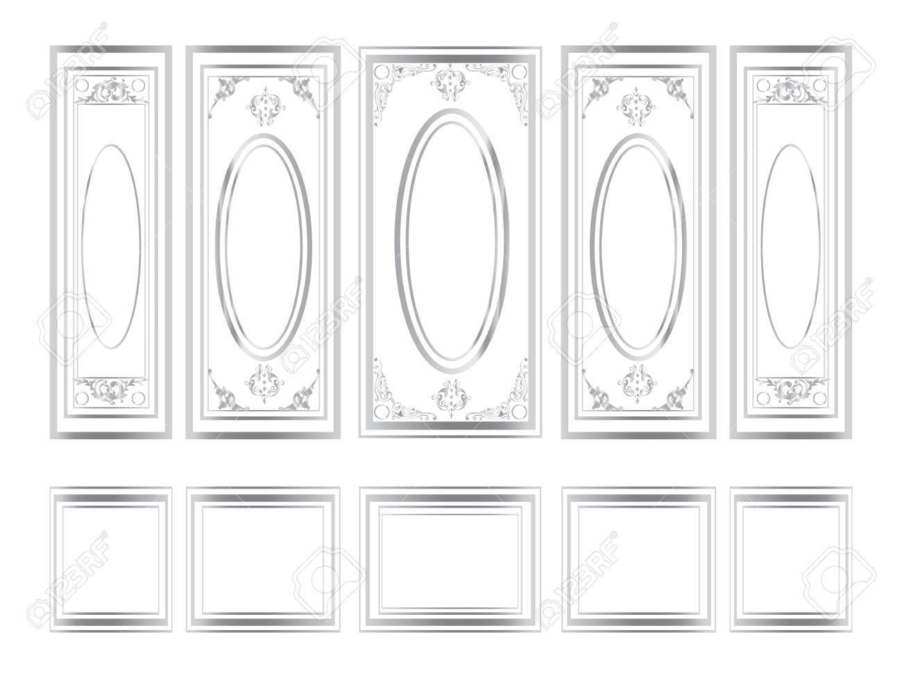 Dekorative Verzierte Rahmen Für Wände Oder Hintergründe. Interior ...