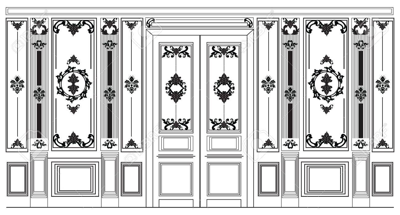 Decorative damask ornamented frames for walls or backgrounds decorative damask ornamented frames for walls or backgrounds interior design decoration panels classic baroque jeuxipadfo Gallery