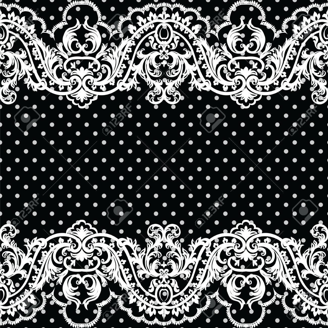 White Vintage Lace Crochet Pattern. Damask Classic Lace Pattern ...