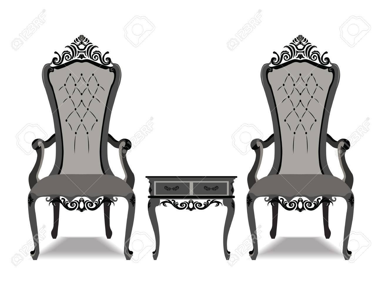 lujo barroco y elegante adornado juego de muebles barroco sillones de estilo de cuero