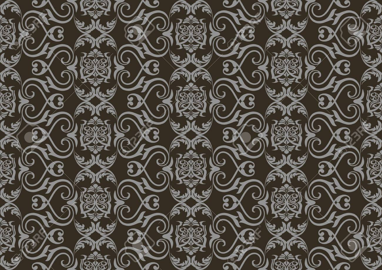 Vintage damask floral classic pattern ornament vector background