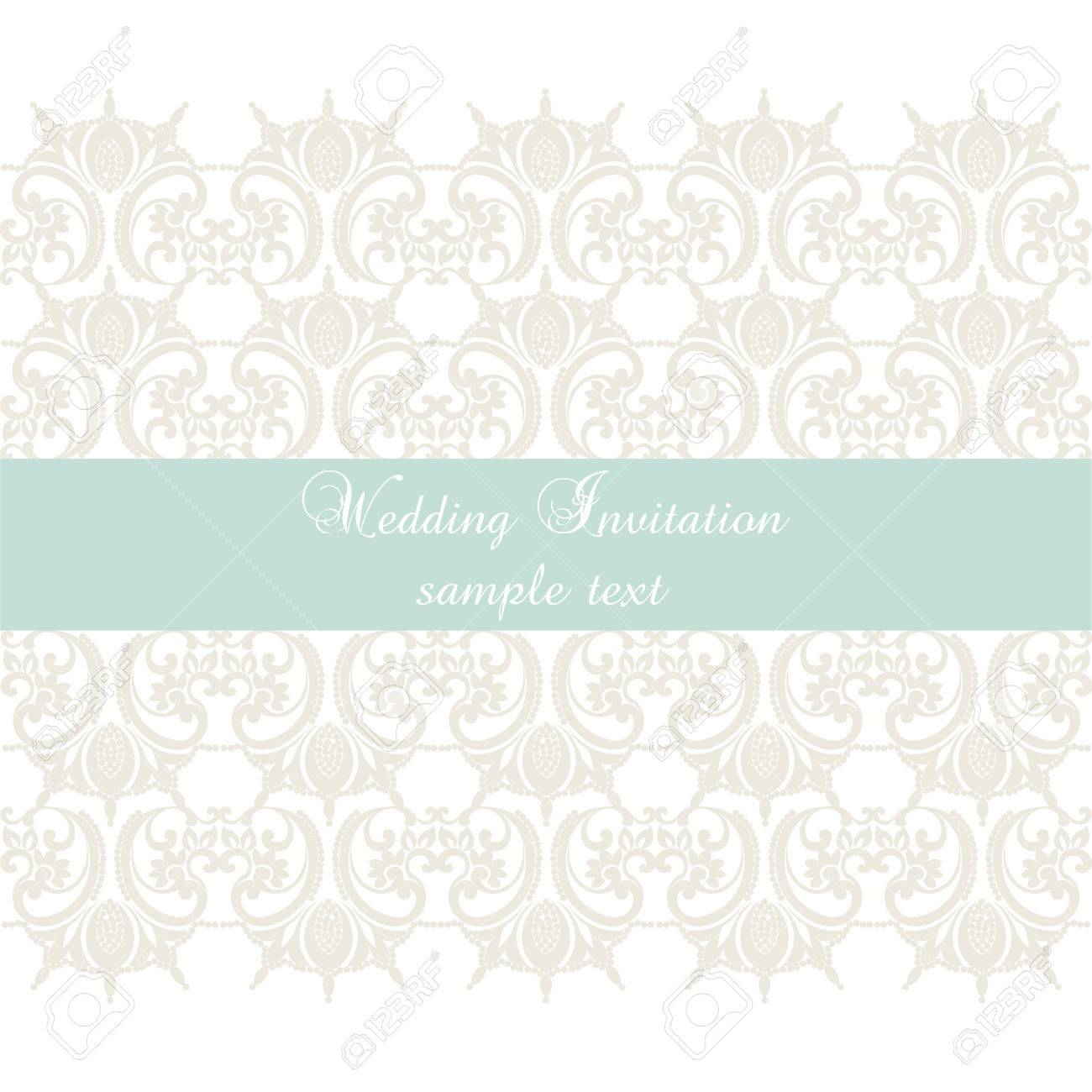 Vector Lace Crochet Card Background Wedding Invitation Or Greeting