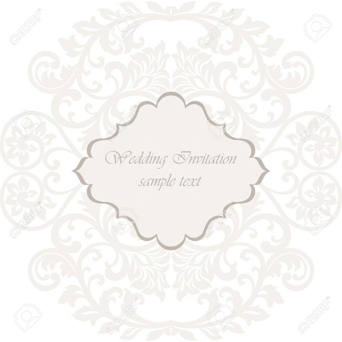 Wedding lace card elegant lace frame vector greeting card or elegant lace frame vector greeting card or invitation template for wedding invitation or greeting card stopboris Image collections