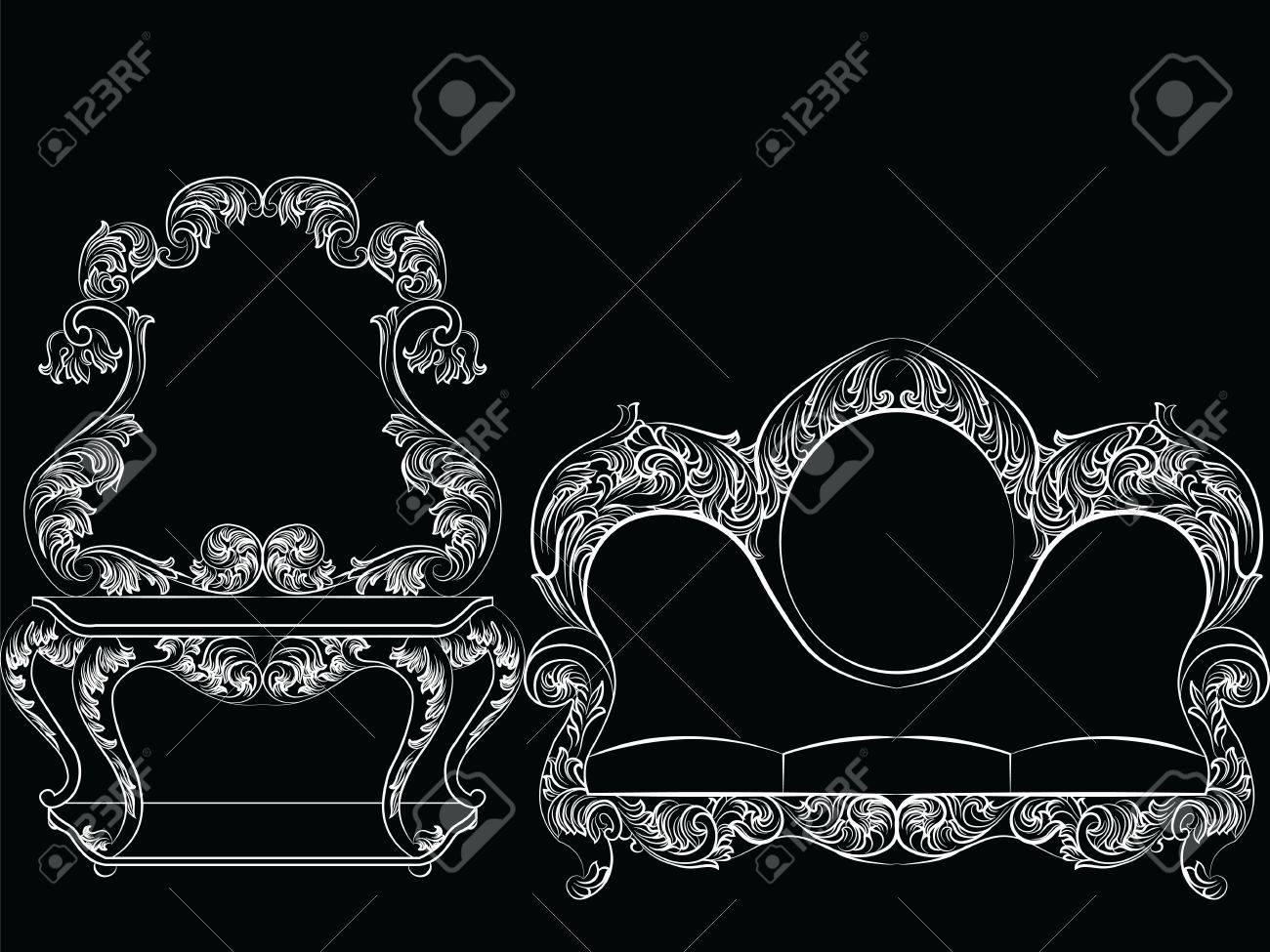 Glamorous Rich Baroque Rococo Furniture Set French Luxury Rich