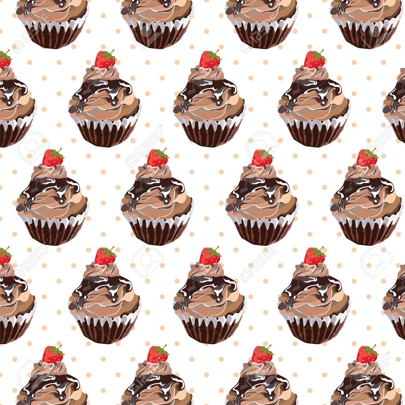 schokoladen kuchen muster vector kleinen kuchen dessert muster kstliche kuchen mit geschmolzene - Kuchen Muster