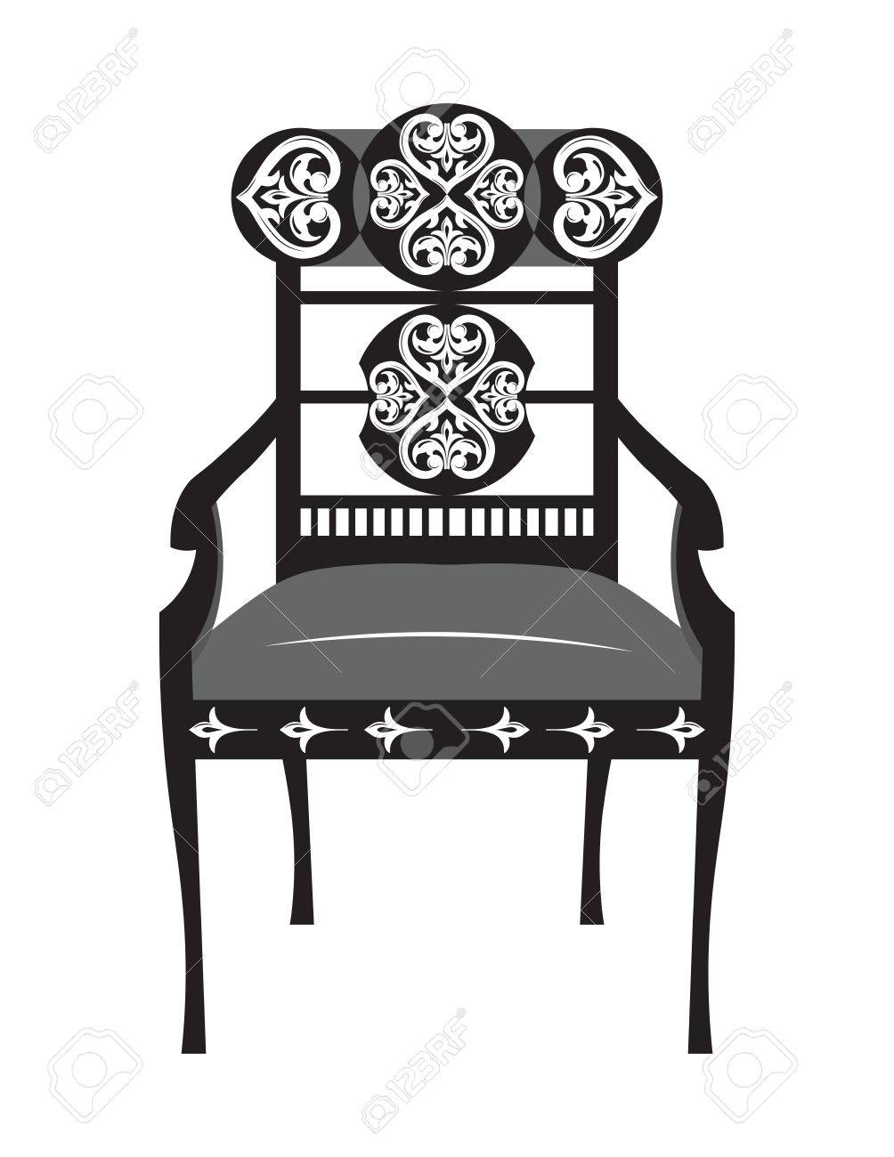 Victorian style furniture chair - Classic Biedermeier Style Furniture Chair Throne With Rich Ornaments English Carved Ornaments Furniture