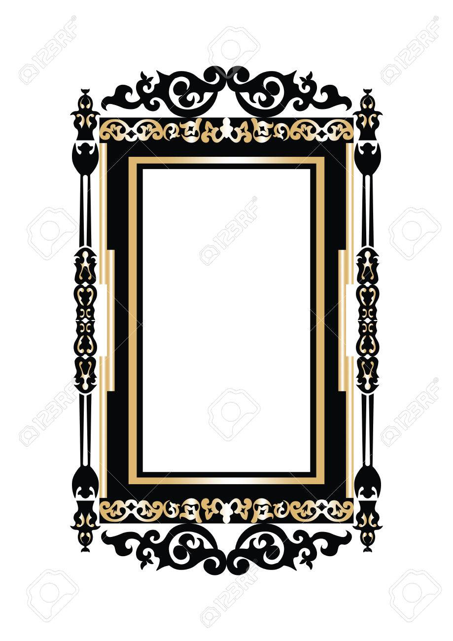 Fine Baroque Wall Frame Component Ideas De Marcos Lamegapromo Info
