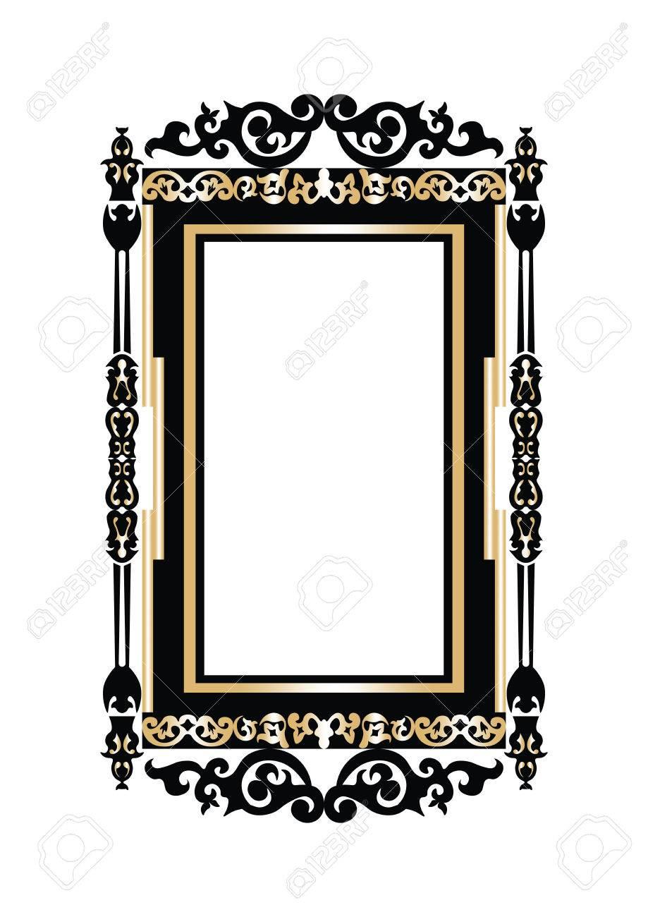 Fine Baroque Wall Frame Component Ideas De Marcos Lamegapromo Info
