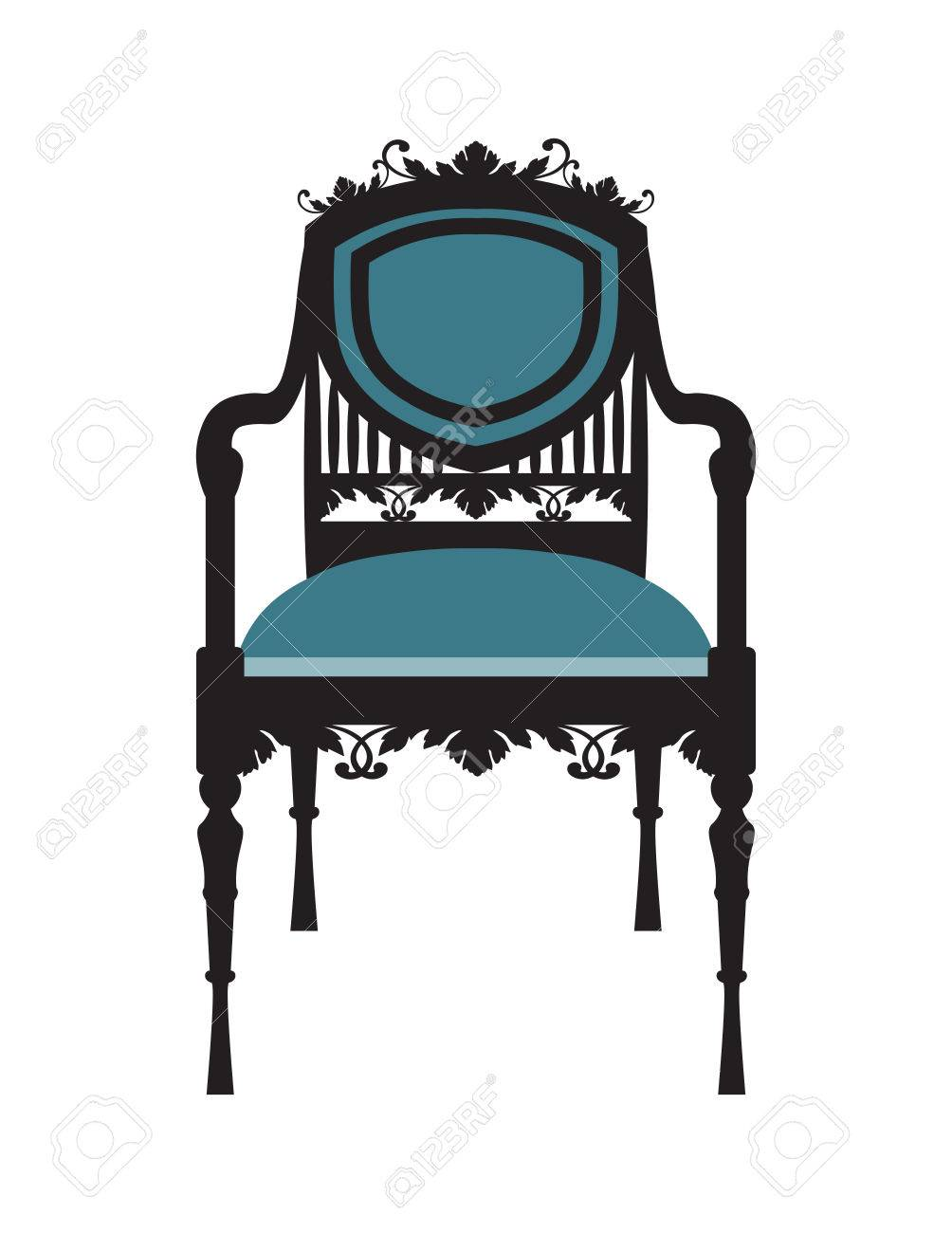 Vector   Vintage Chair Furniture Vector. Rich Carved Ornaments Furniture.  Vector Victorian Style Furniture. Vector Sketch