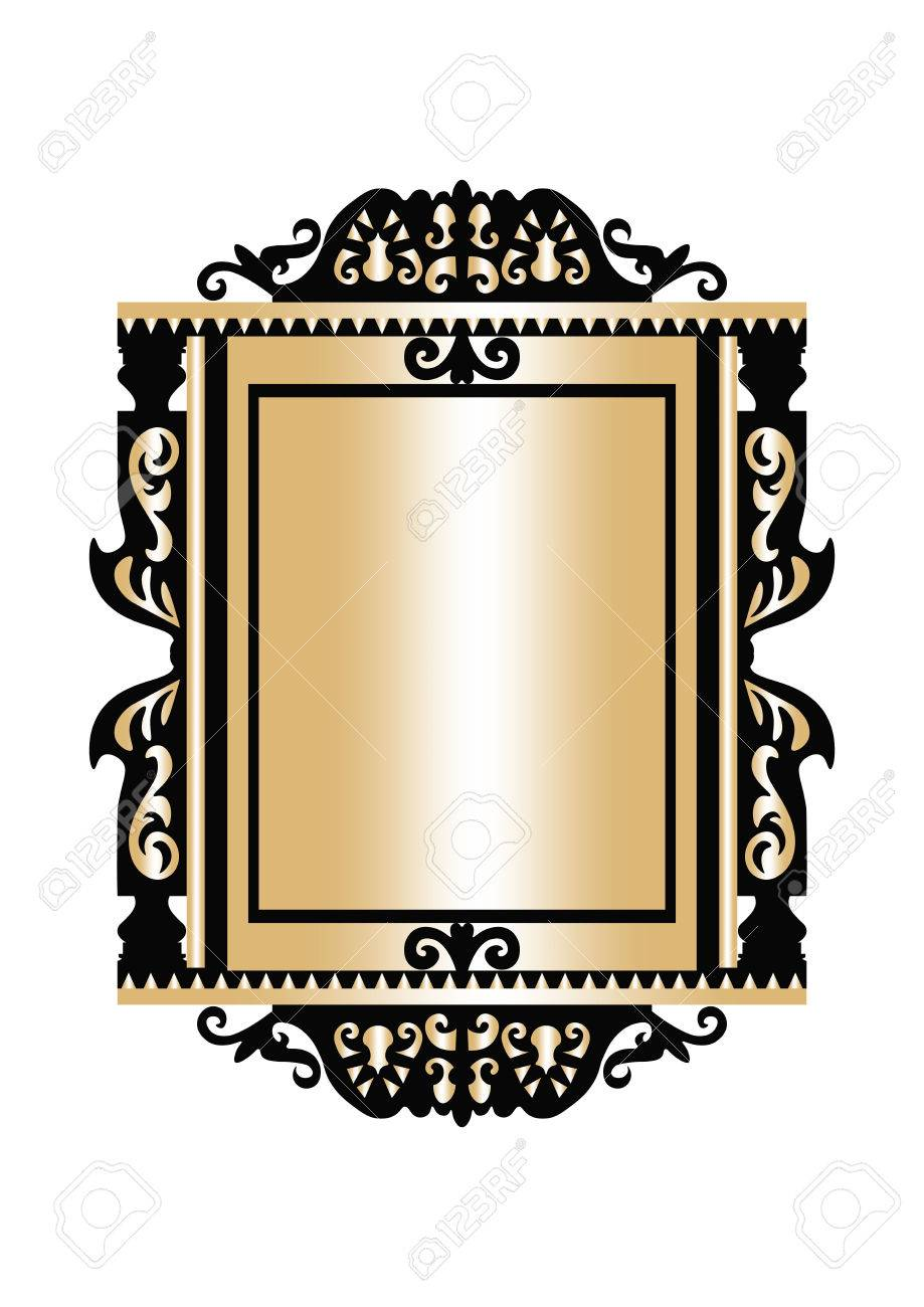 Baroque Golden Rococo Frame Decor. Vector French Luxury Rich ...