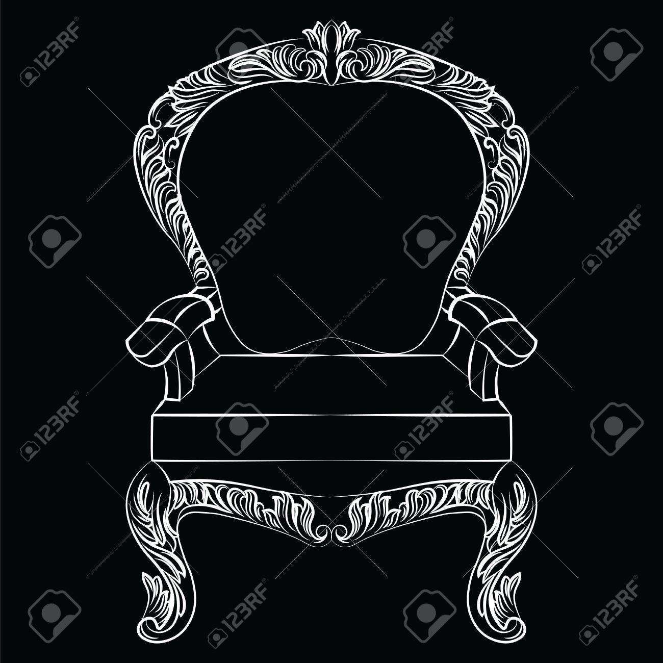 Wunderbar Barock Luxus Stil Sessel Möbel. Thron Mit Luxuus Reichen Verzierungen.  Französisch Luxus Reich