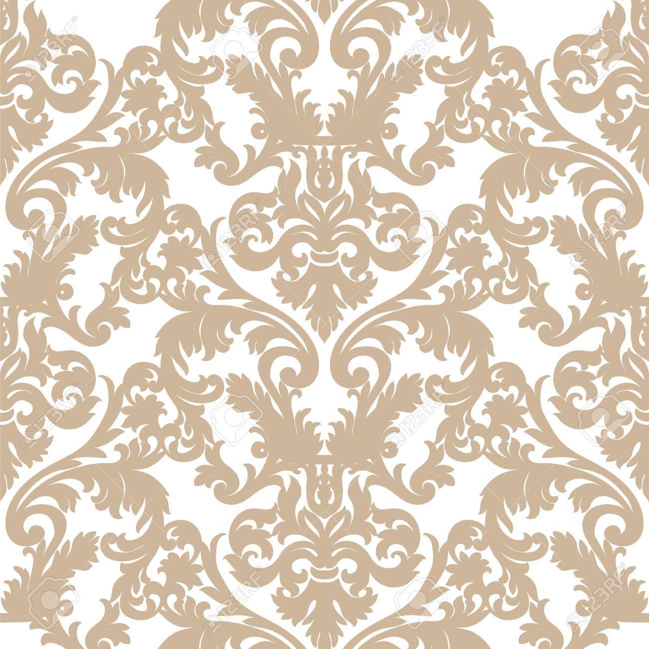 victorian wallpaper texture  Vintage Baroque Ornament Pattern. Vector Luxury Damask Decor ...