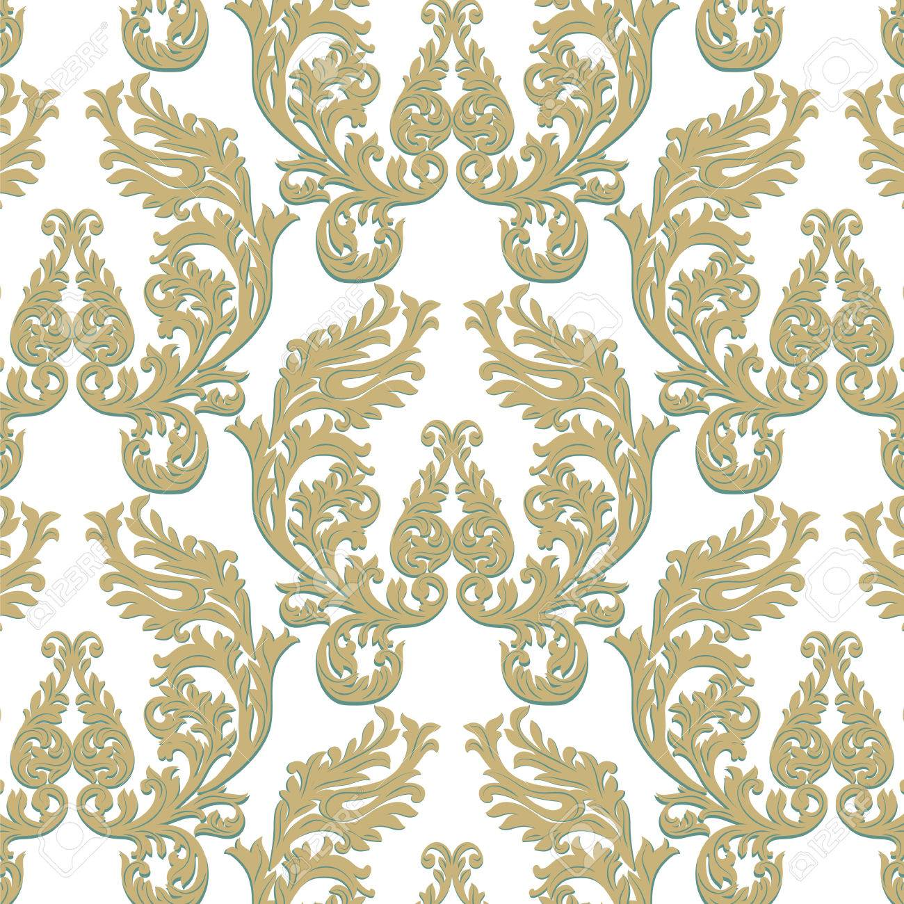 Vintage 12x10 FT Vinyl Photo Backdrops,Medieval Victorian Rococo Baroque Style Damask Tulip Flowers Renaissance Art Background for Selfie Birthday Party Pictures Photo Booth Shoot