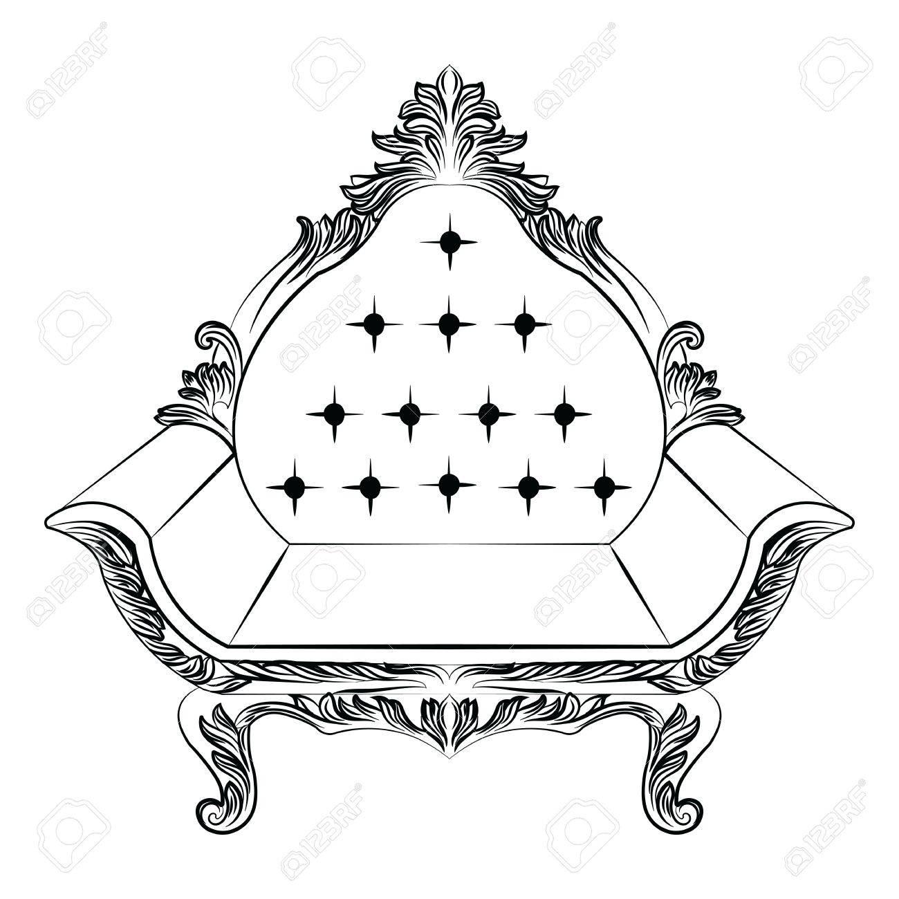 Barock Luxus-Stil Sessel Möbel. Thron Mit Luxuus Reichen ...