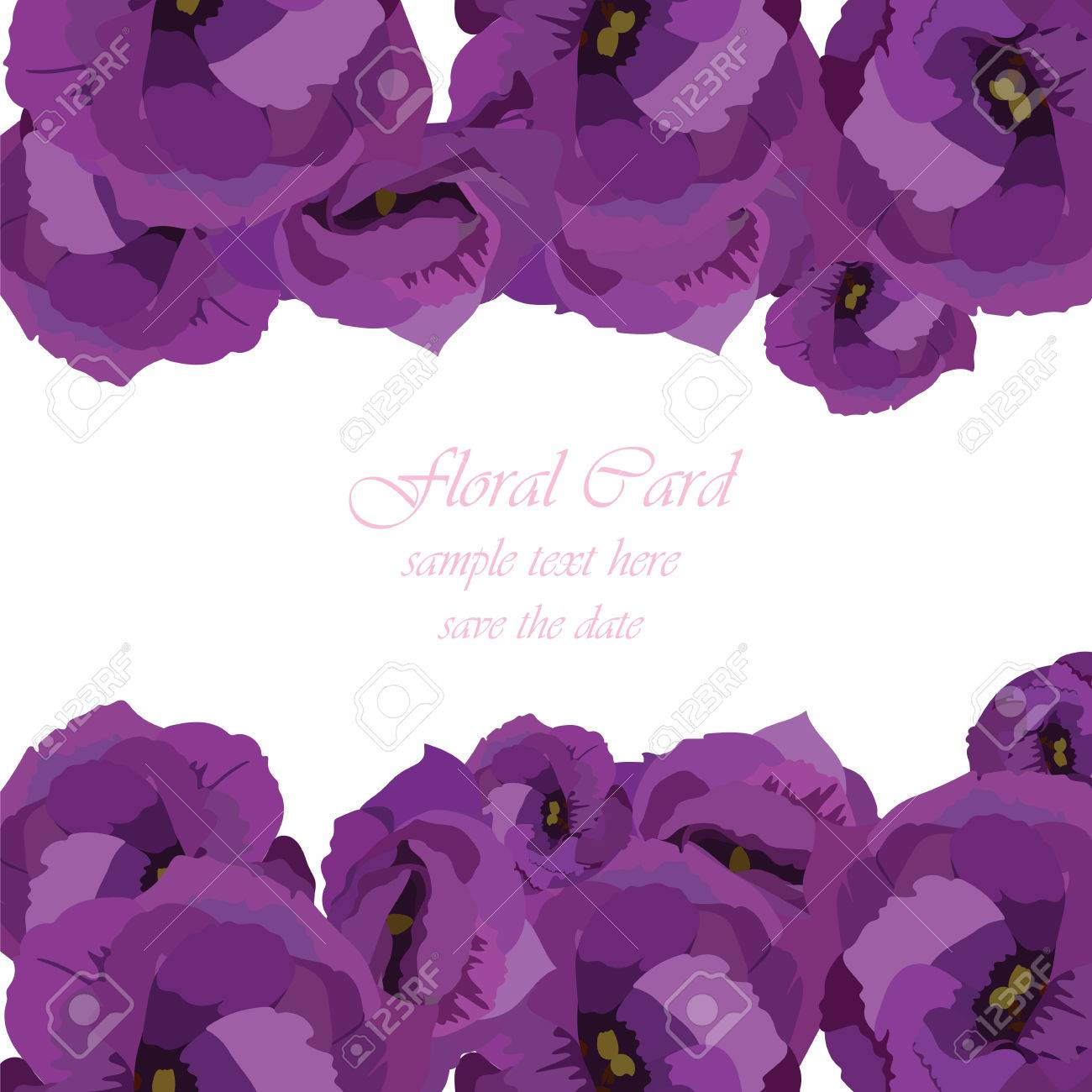 Spring summer floral greeting card vector invitation note for spring summer floral greeting card vector invitation note for wedding birthday or other holiday izmirmasajfo