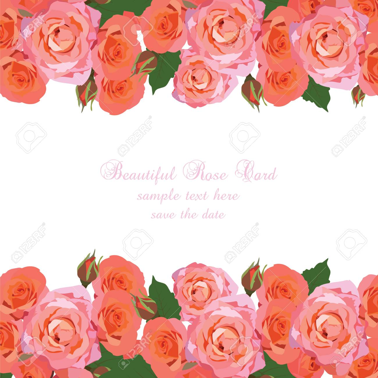 Delicate pink roses card vector rose flowers background elegant delicate pink roses card vector rose flowers background elegant greeting card or invitation for izmirmasajfo
