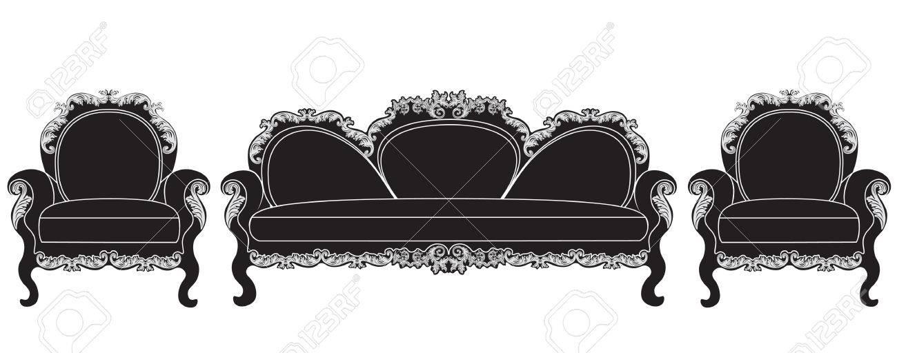 Encantador Muebles Negro De La Vendimia Fotos - Muebles Para Ideas ...