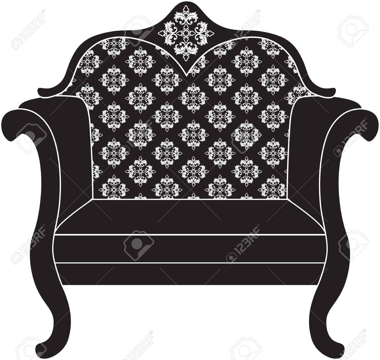 Barock Luxus Stil Sessel Möbel. Thron Mit Luxuriösen Reichen Verzierungen.  Französisch Luxus Reich