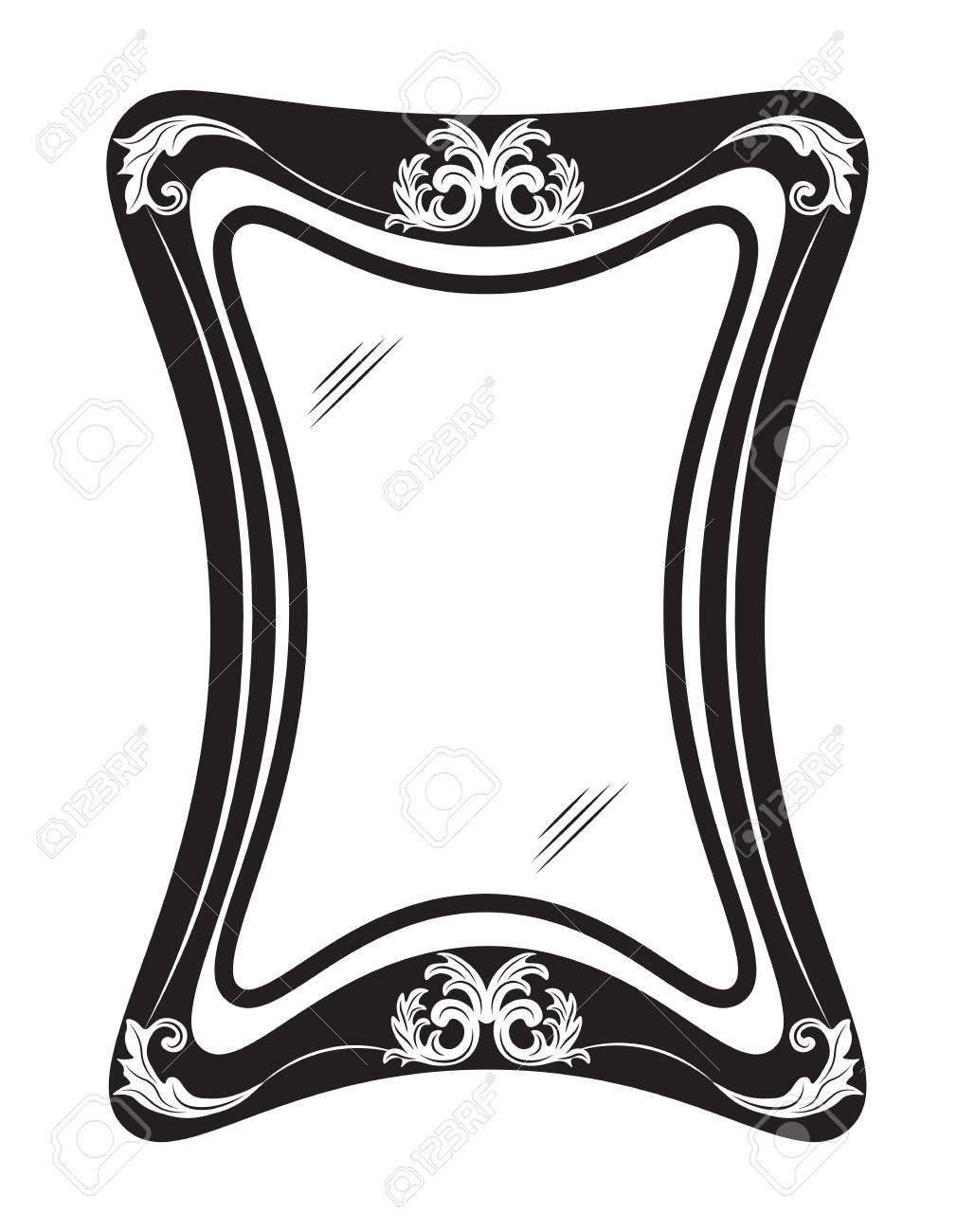 Vintage Mirror Frame With Luxury Ornaments. Vector Illustration ...