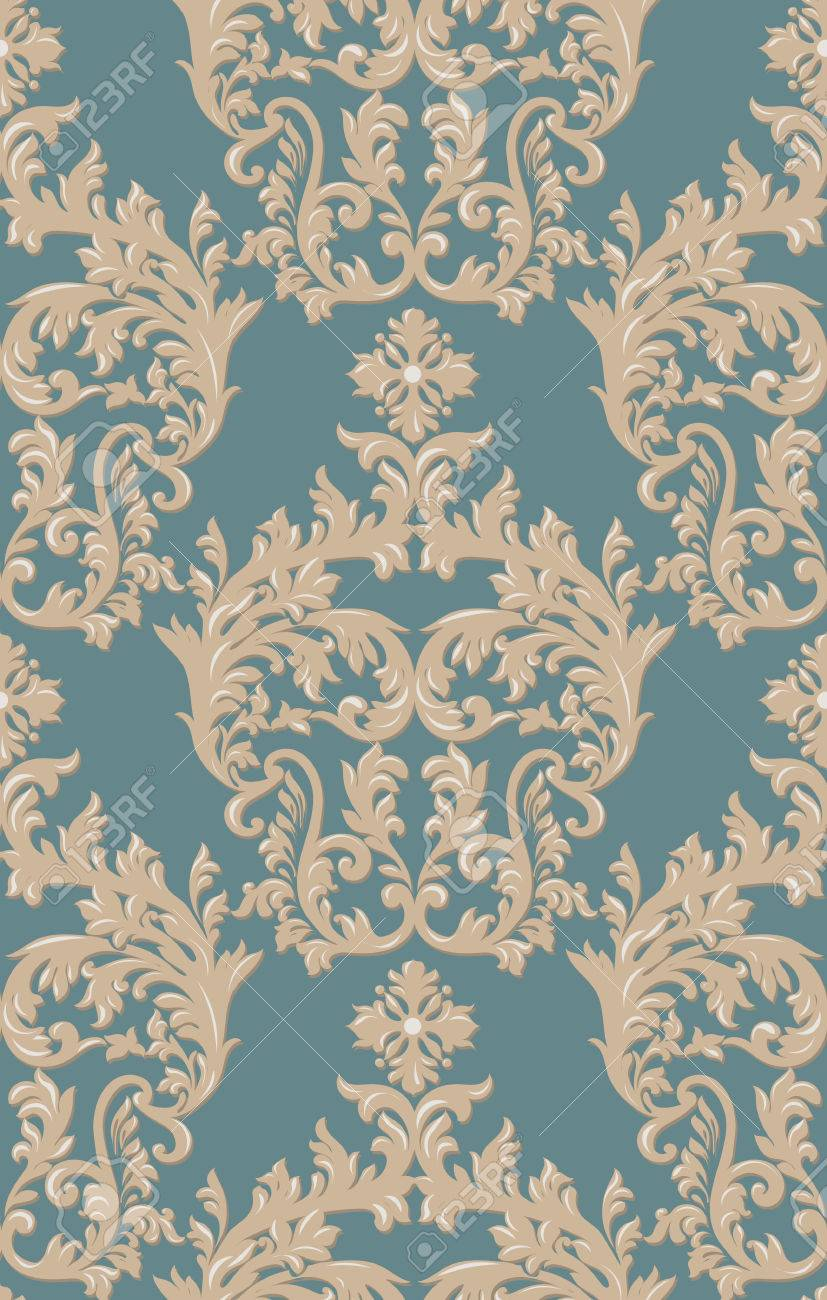 Baroque Floral Damask Pattern Background Luxury Classic Decor Royalty Free Cliparts Vectors And Stock Illustration Image 65553844
