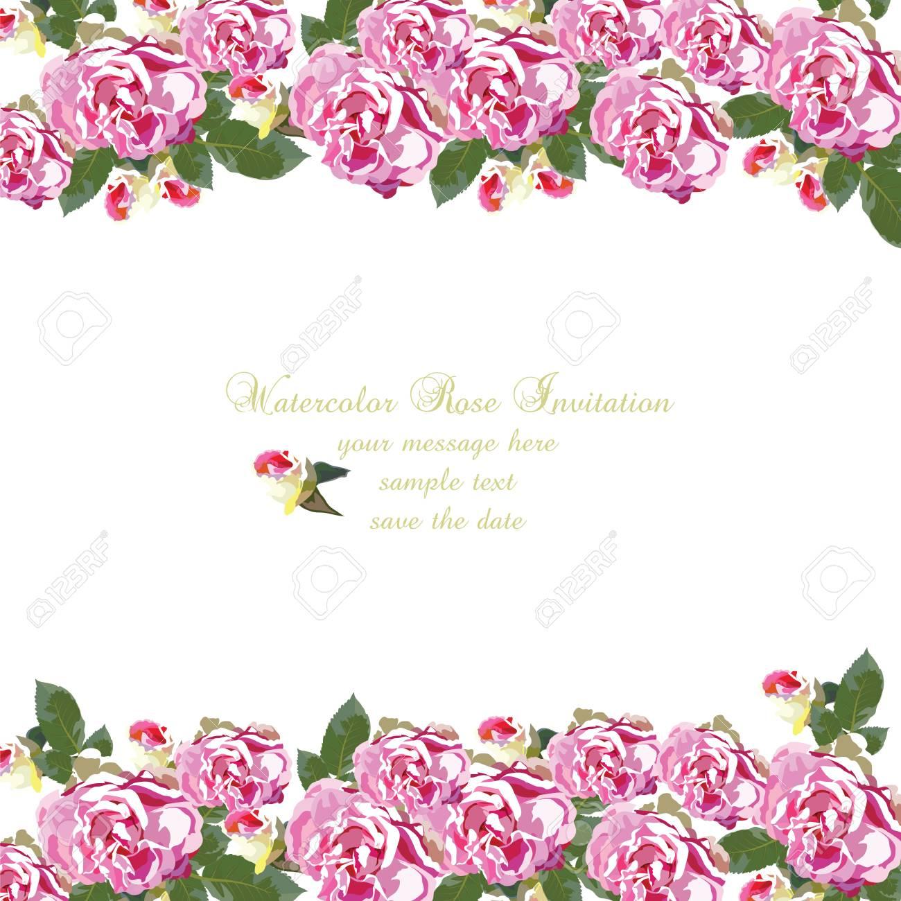 Tarjeta De Acuarela Geranio Flores Borde Floral Para Tarjetas De Felicitación De Fondo Invitaciones Bodas Cumpleaños Día De San Valentín Día De