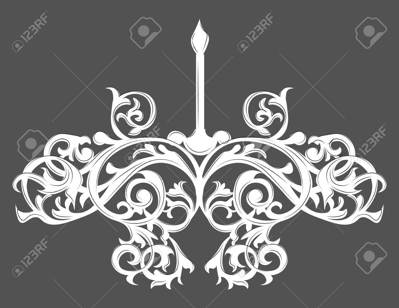 Kronleuchter Barock Schwarz ~ Barock elegante lampe jahrgang verziert vector luxus königlichen