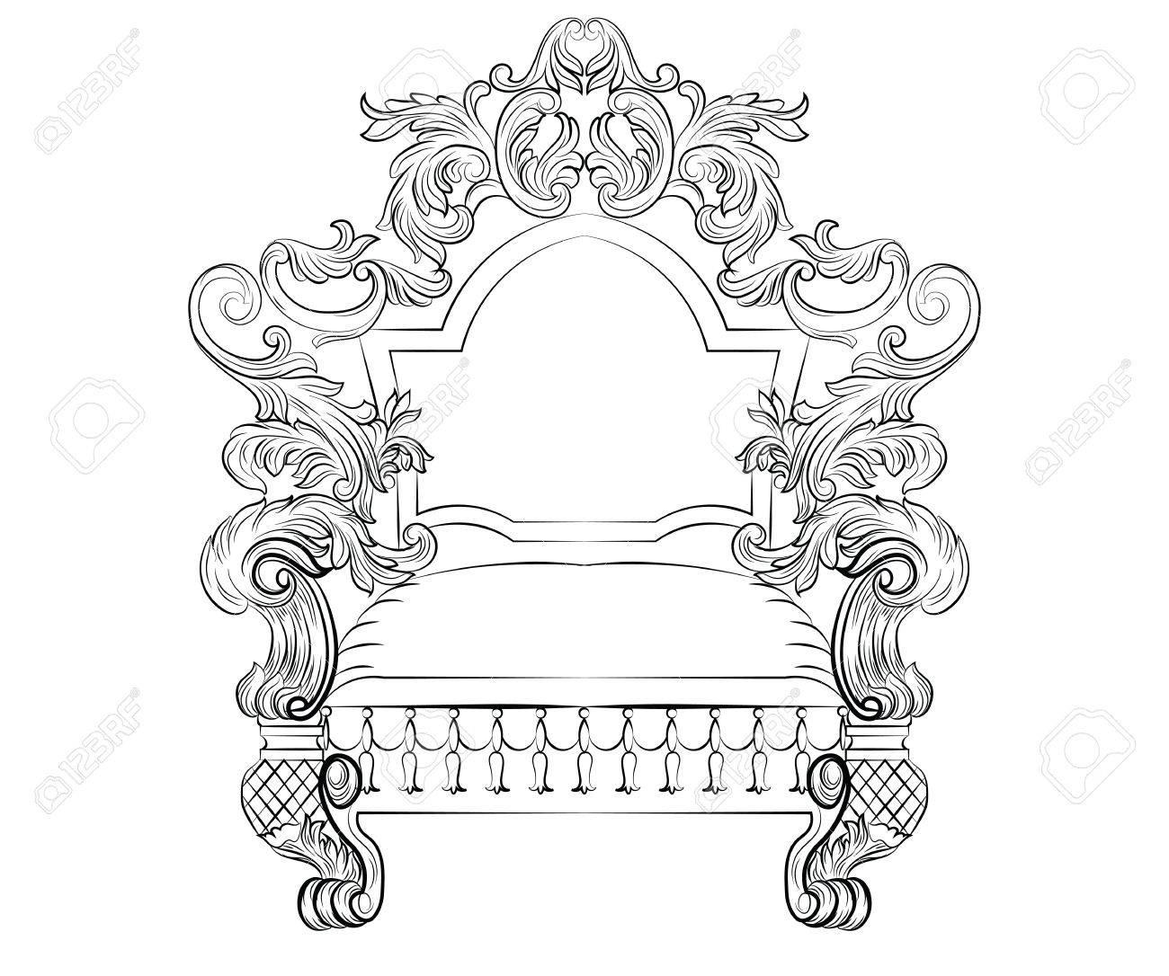 Exquisite Fabulous Reich Barock Rokoko Sessel. Französisch Luxus ...