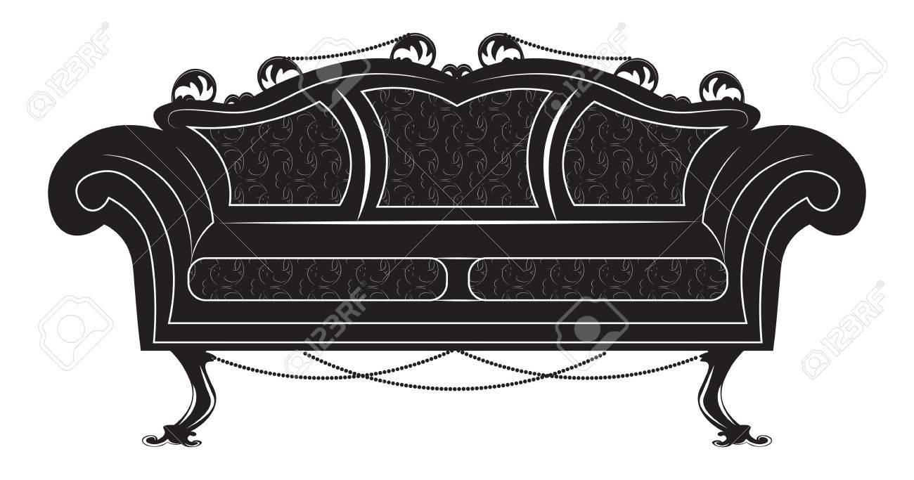 Mobili In Stile Gotico vintage gothic style sofa furniture. vector hermitage decor collection
