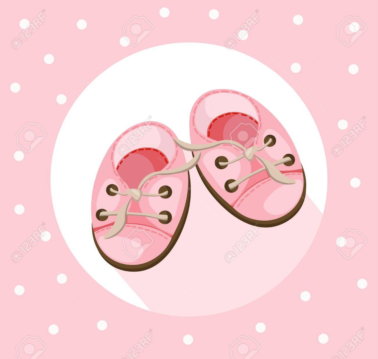e17610d8b52 Bebé muletas zapatos lindos Vector. Calzado de verano colorido Foto de  archivo - 81887870